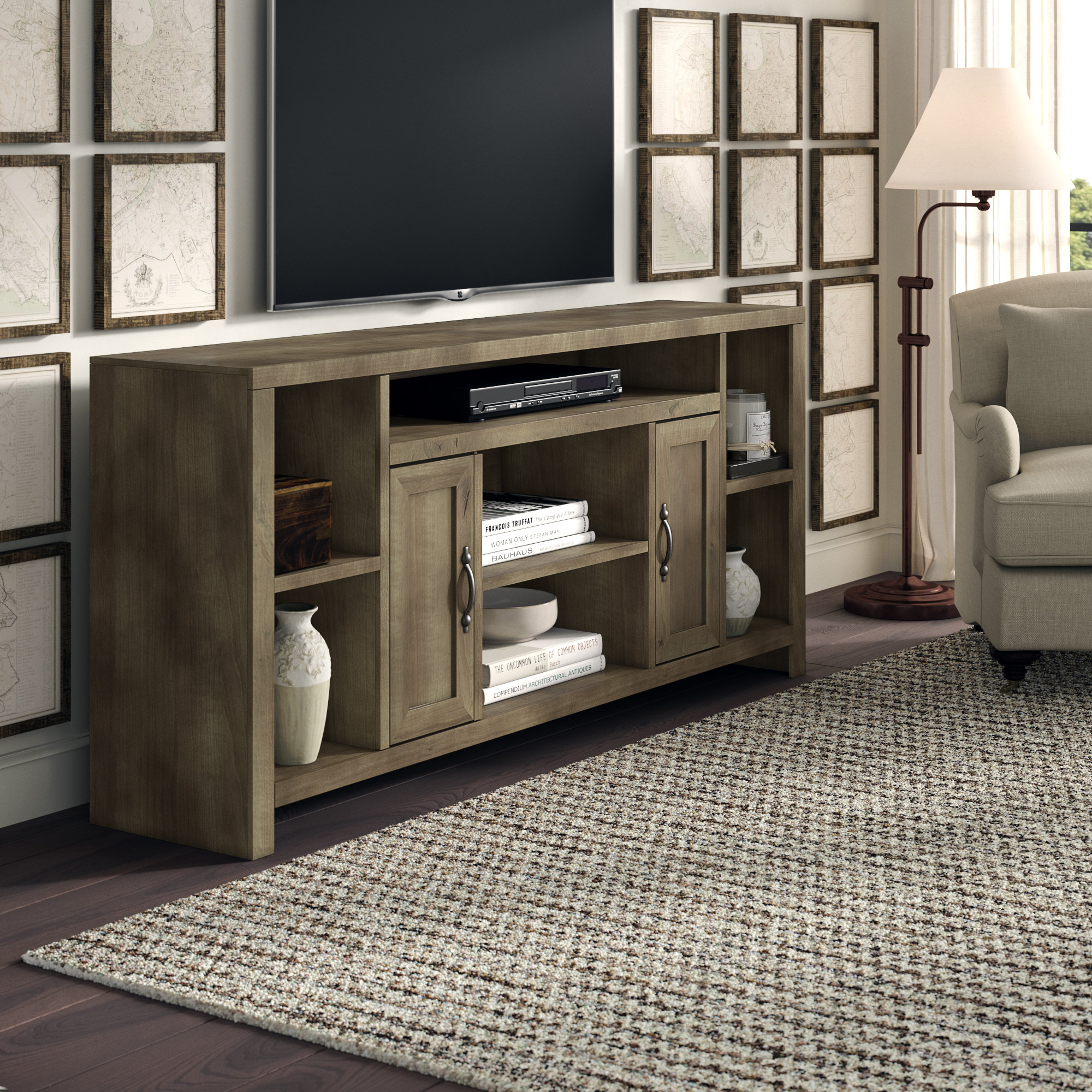 Solid Wood Tv Stand Tv Stands & Entertainment Centers You'll Love Throughout Edwin Grey 64 Inch Tv Stands (View 15 of 30)