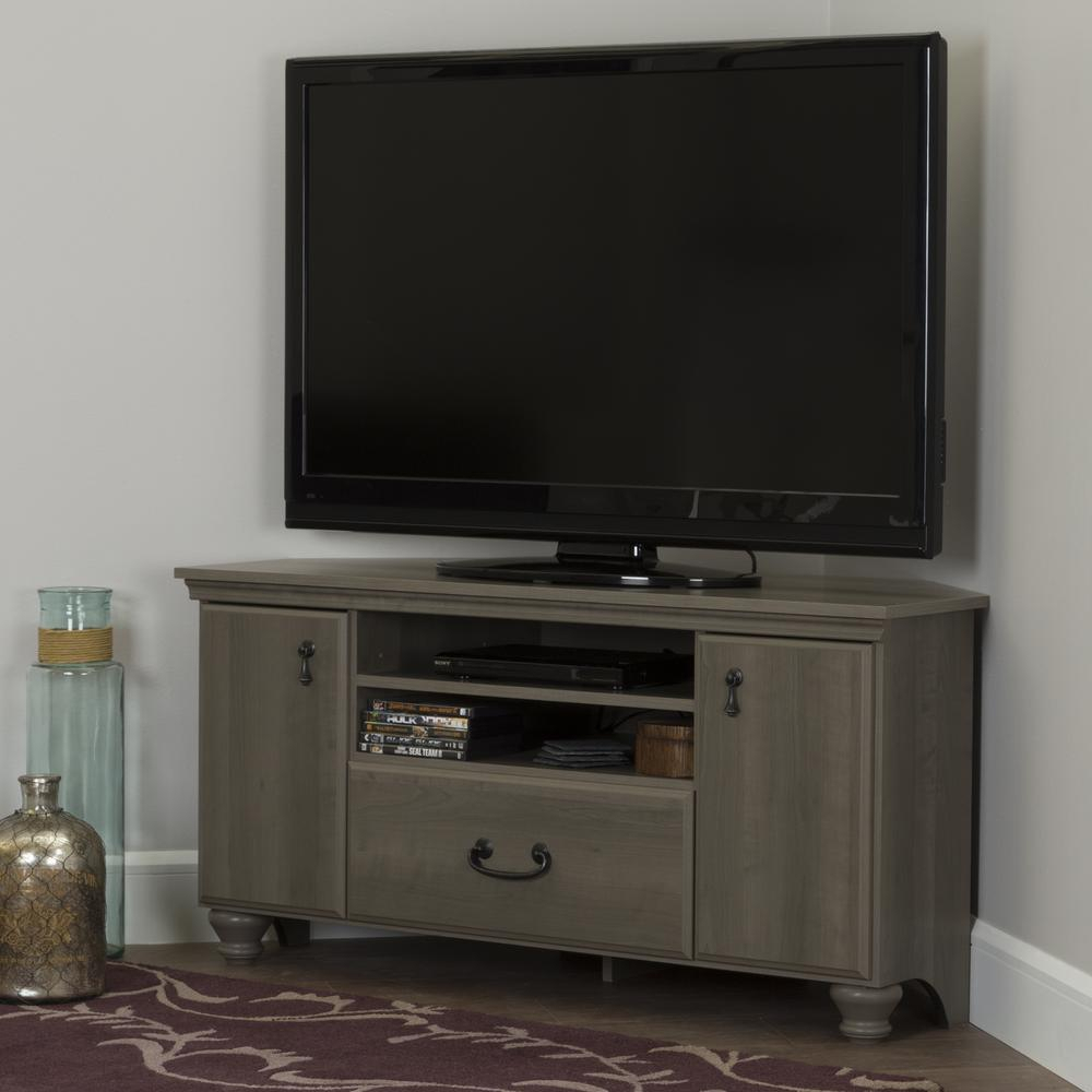South Shore Noble Gray Maple Storage Entertainment Center 10381 For Casey Grey 54 Inch Tv Stands (View 27 of 30)