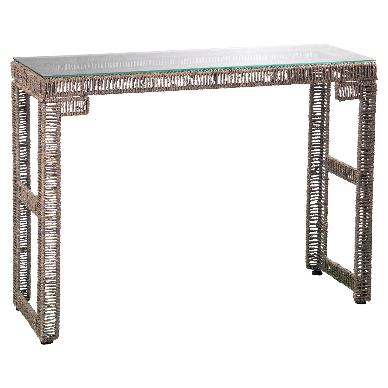 Southern Enterprises Akola Woven Console Table – Walmart With Intarsia Console Tables (View 24 of 30)