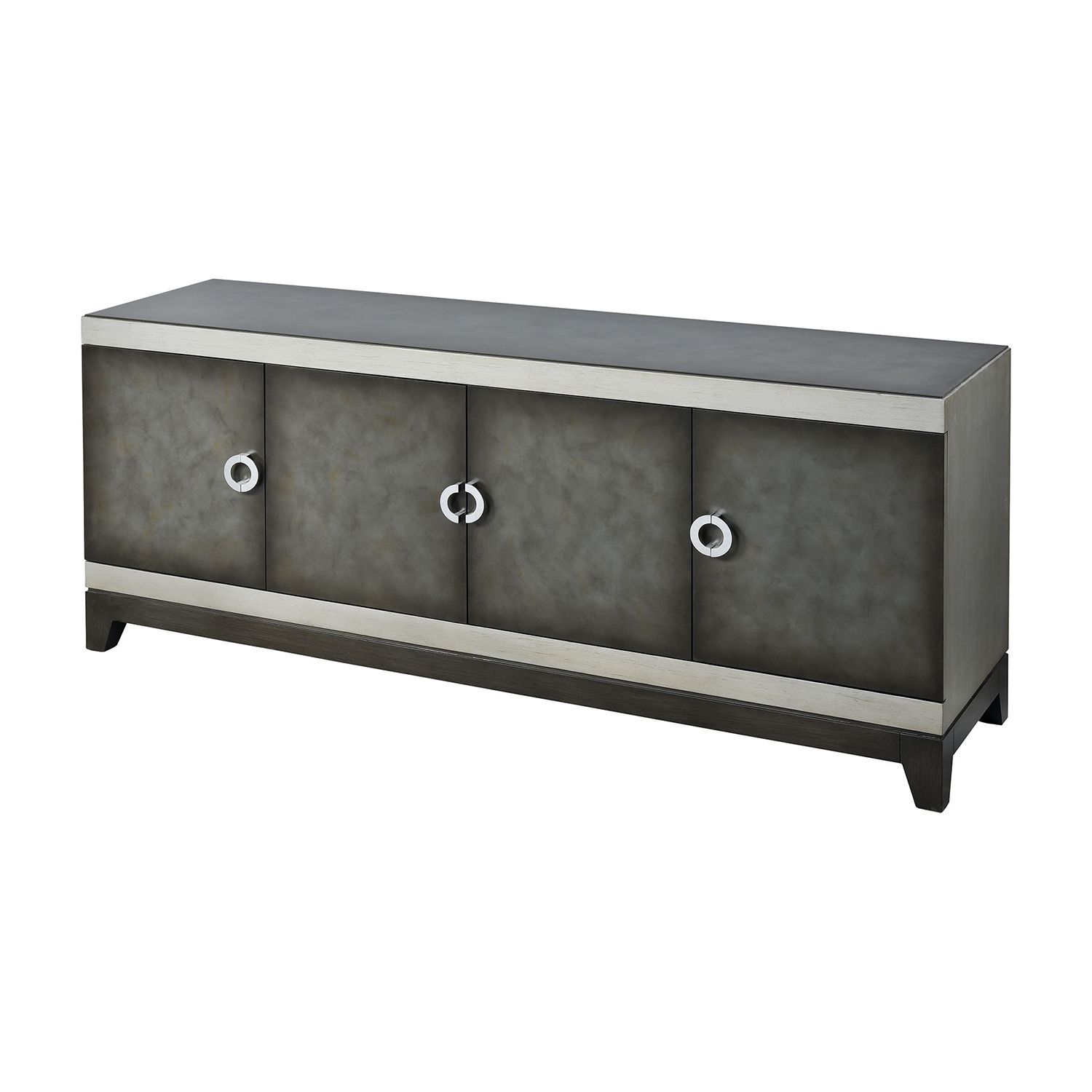 Stein World Aleksey Antique Pewter And Silver Media Console 17047 with regard to Jaxon 76 Inch Plasma Console Tables (Image 28 of 30)