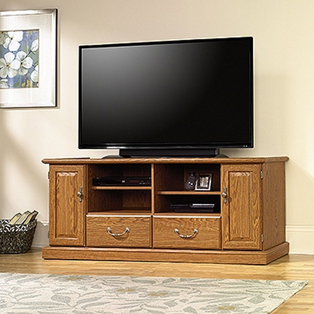 Stek Shop: Sauder 401346 Orchard Hills Entertainment Credenza With Regard To Kilian Black 60 Inch Tv Stands (View 5 of 30)