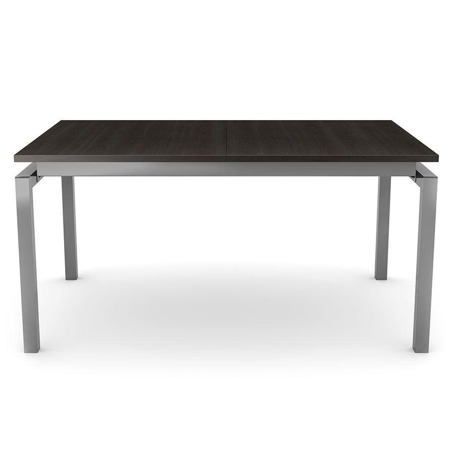 Stół Do Jadalni Ze Stali Nierdzewnej Biały 220 X 90 Cm Cza for Parsons Grey Solid Surface Top & Stainless Steel Base 48X16 Console Tables (Image 24 of 30)