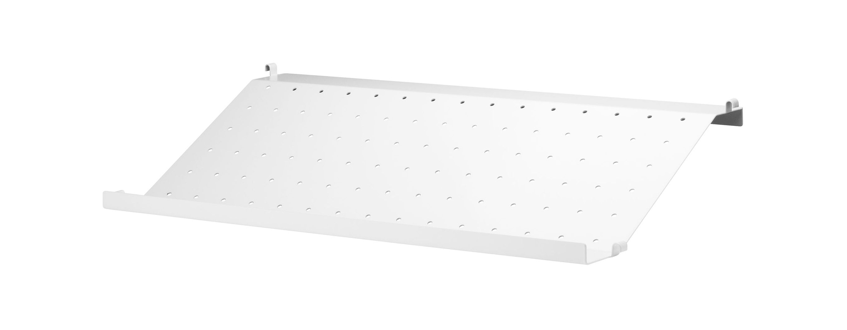 String System Shelf – Perforated Metal / Magazine & Shoe Holder – L For Dixon White 58 Inch Tv Stands (View 10 of 30)