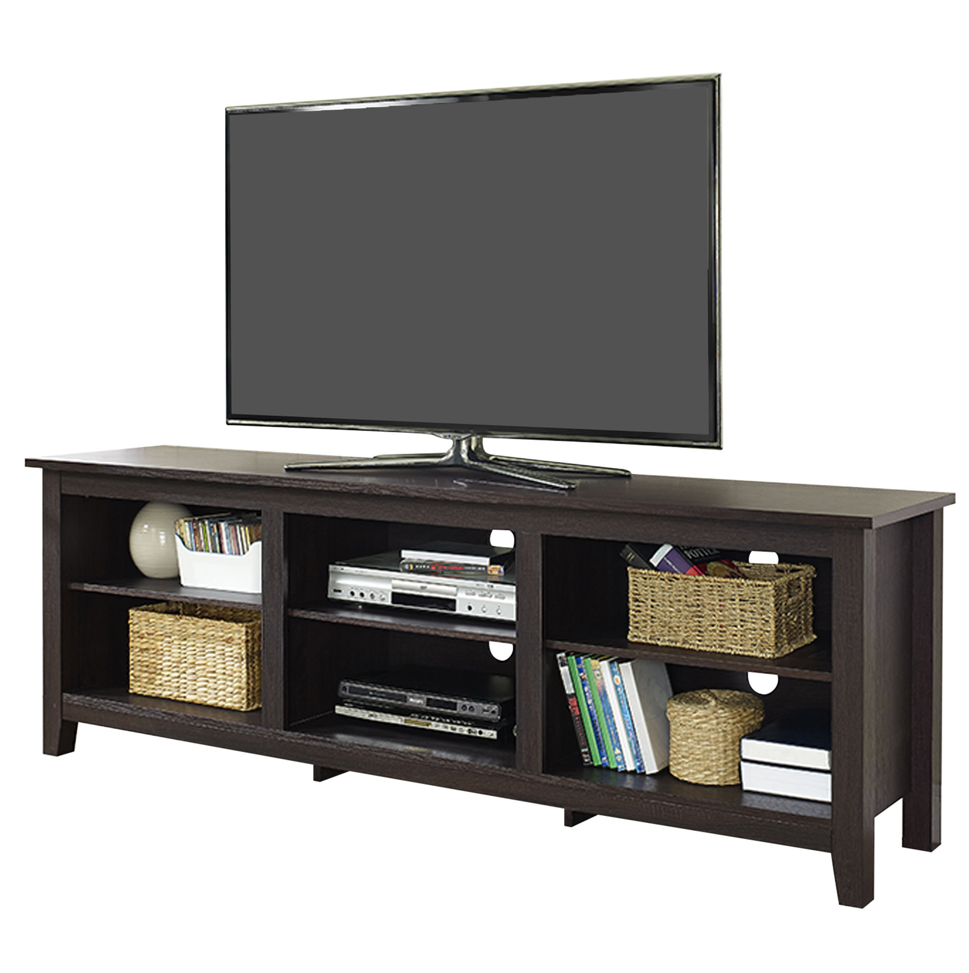 "Sunbury Tv Stand For Tvs Up To 60"" With Optional Fireplace & Reviews In Laurent 70 Inch Tv Stands (View 11 of 30)"