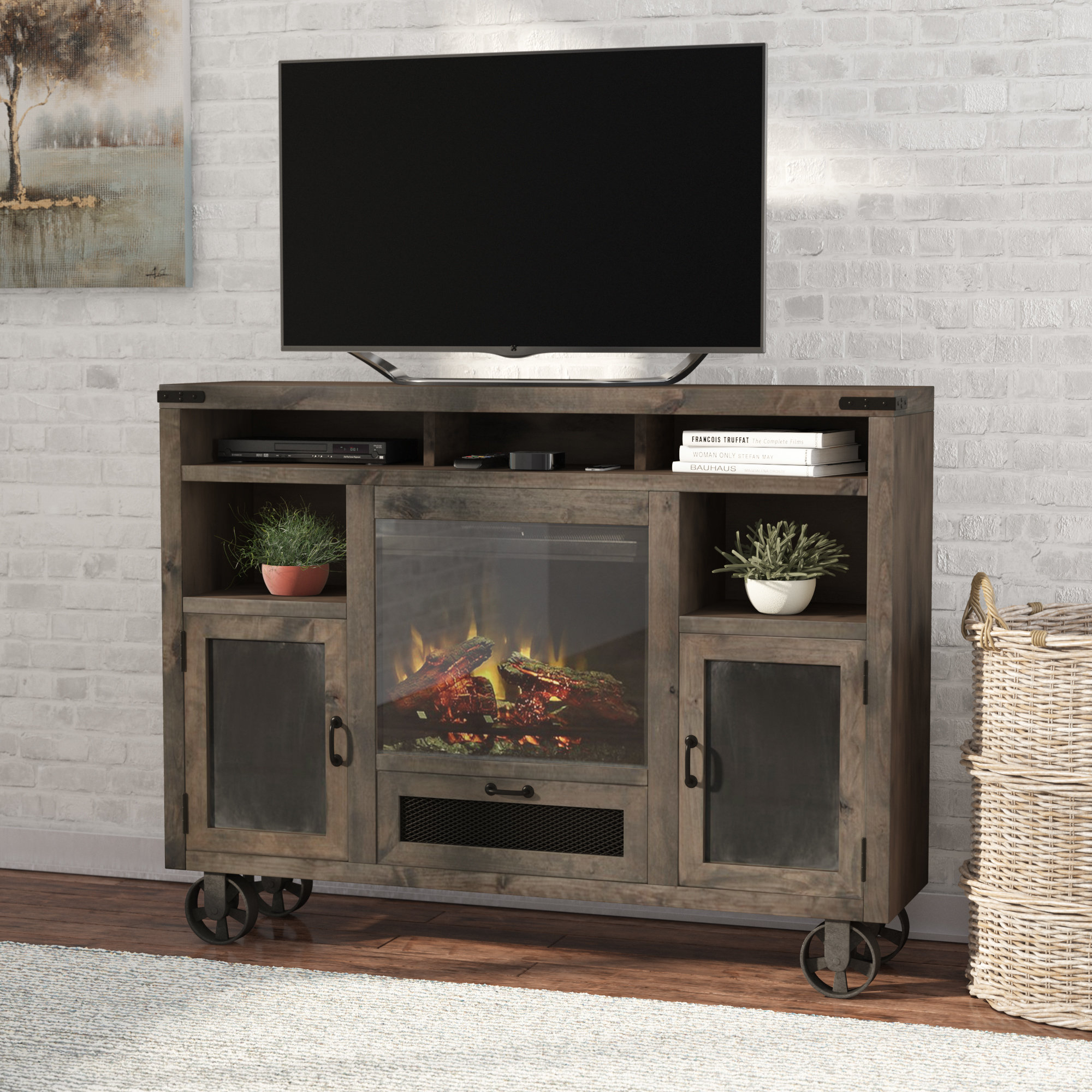 Tall Narrow Tv Stand | Wayfair For Edwin Grey 64 Inch Tv Stands (View 9 of 30)