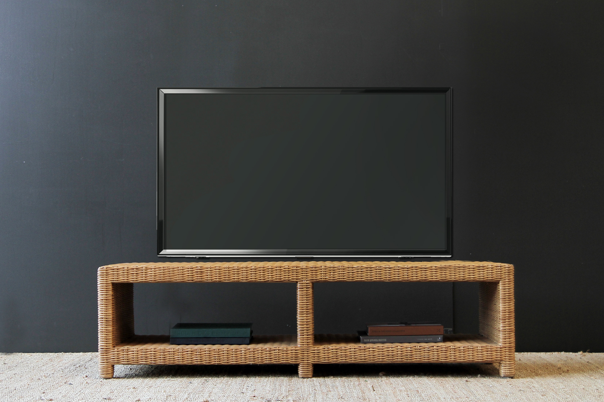 Tampa Low Line Tv Console throughout Natural Cane Media Console Tables (Image 27 of 30)
