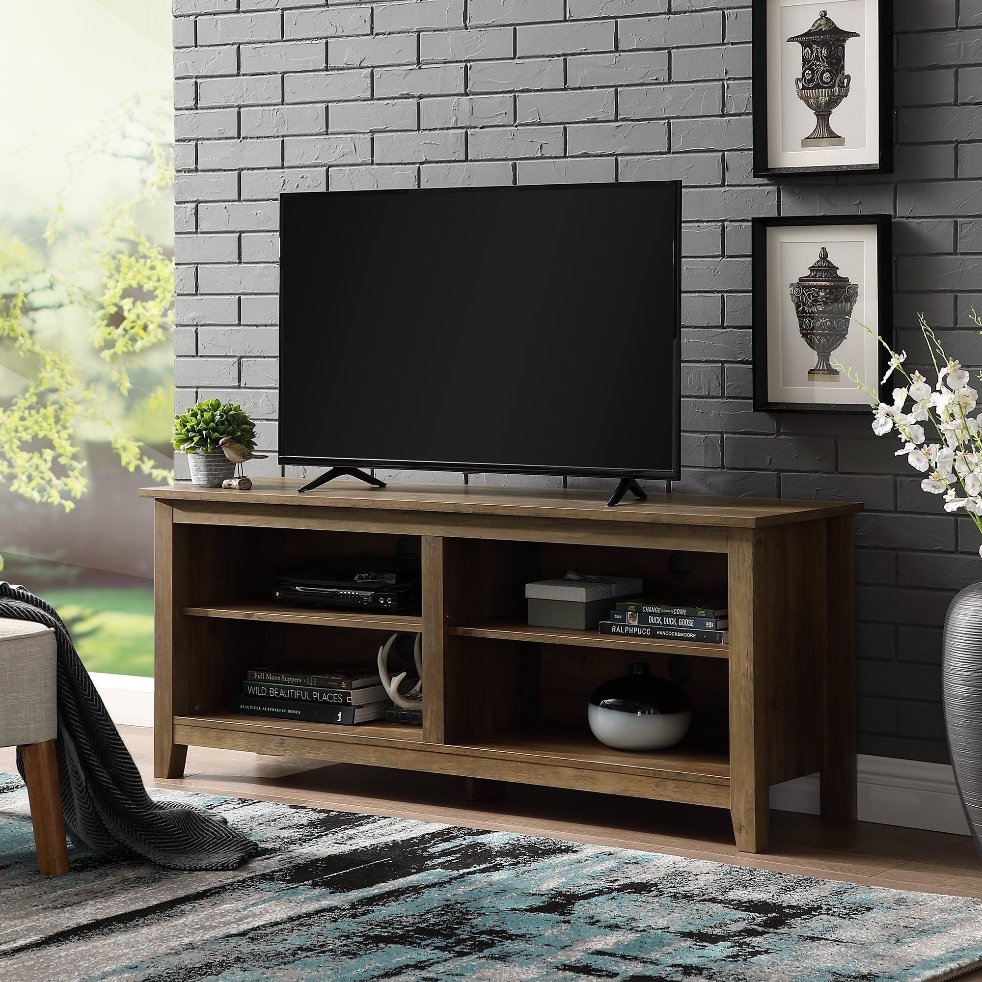 Tan, Tv Stands Living Room Furniture | Find Great Furniture Deals Regarding Rowan 45 Inch Tv Stands (View 6 of 30)