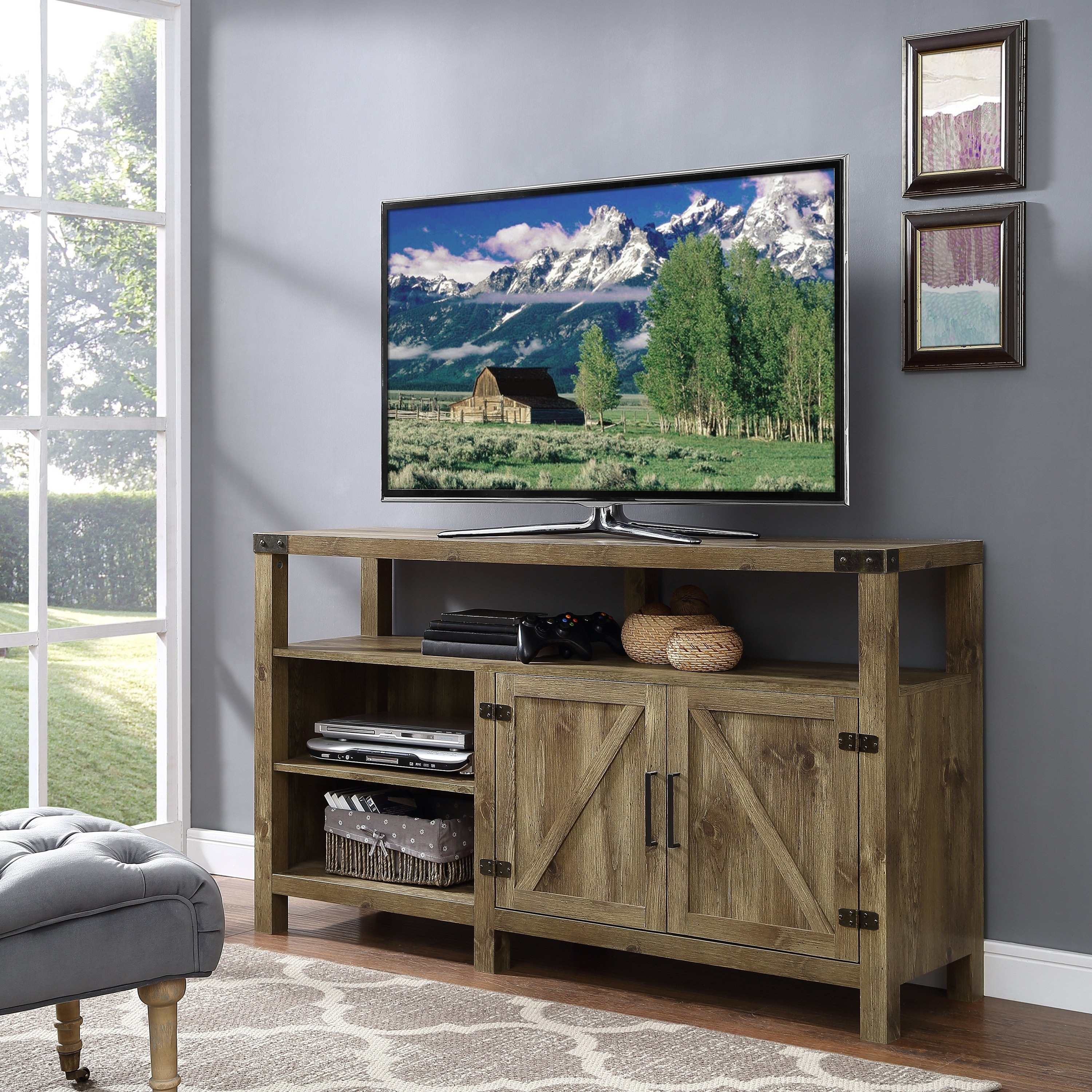 Tan, Tv Stands Living Room Furniture | Find Great Furniture Deals with Rowan 64 Inch Tv Stands (Image 30 of 30)