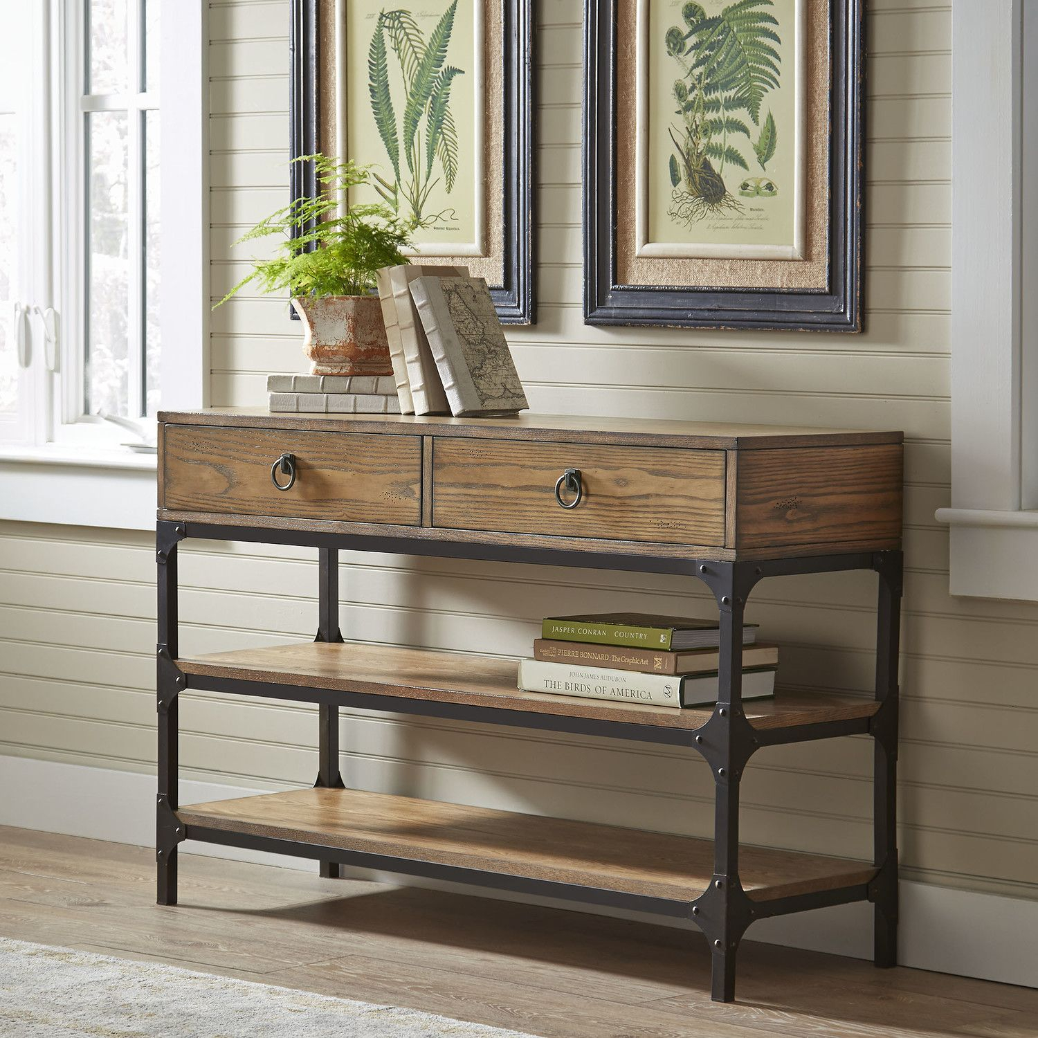 Tanner Console Table | Made With Ash Veneers And A Rustic Metal throughout Mix Patina Metal Frame Console Tables (Image 26 of 30)