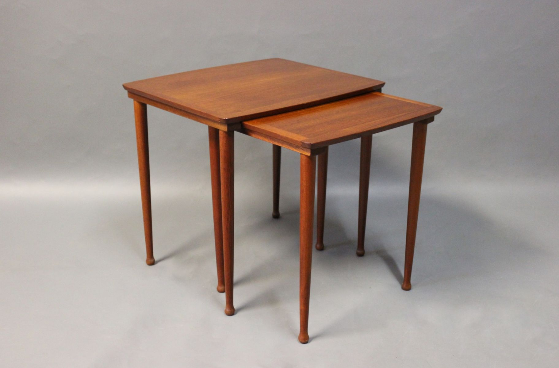 Teak Nesting Tables From Møbelintarsia, 1960S For Sale At Pamono Regarding Intarsia Console Tables (View 26 of 30)