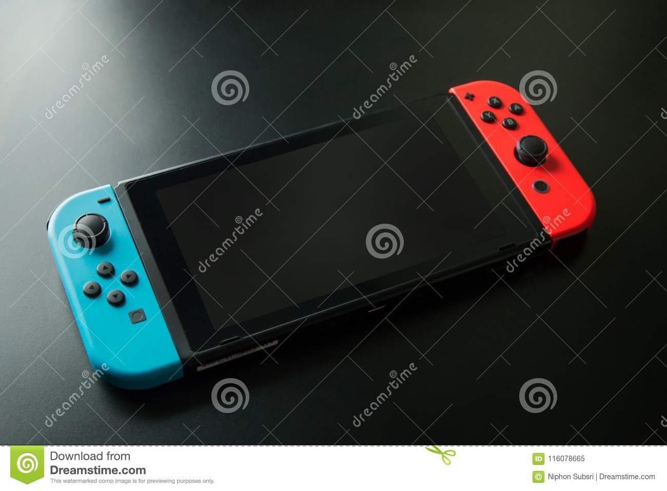 Thailand , Bangkok – May 7, 2018 Nintendo Switch Game Console On With Regard To Switch Console Tables (View 26 of 30)
