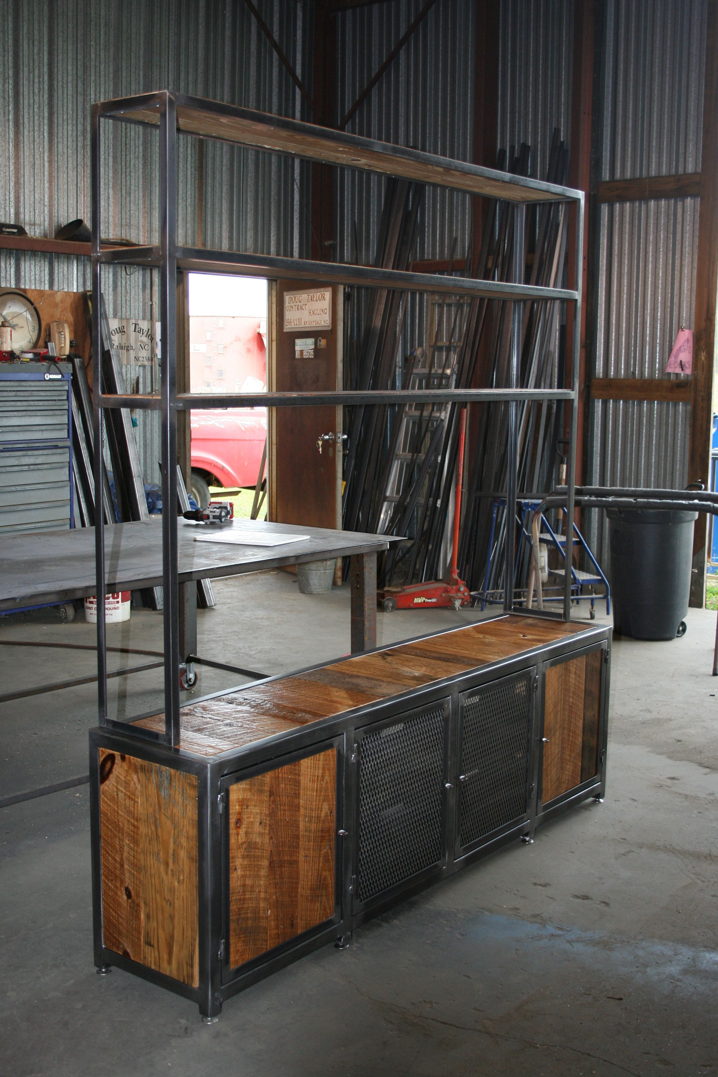 The Berendcustom Ordered Console And Shelving Unit. Steel Frame with regard to Mix Patina Metal Frame Console Tables (Image 27 of 30)