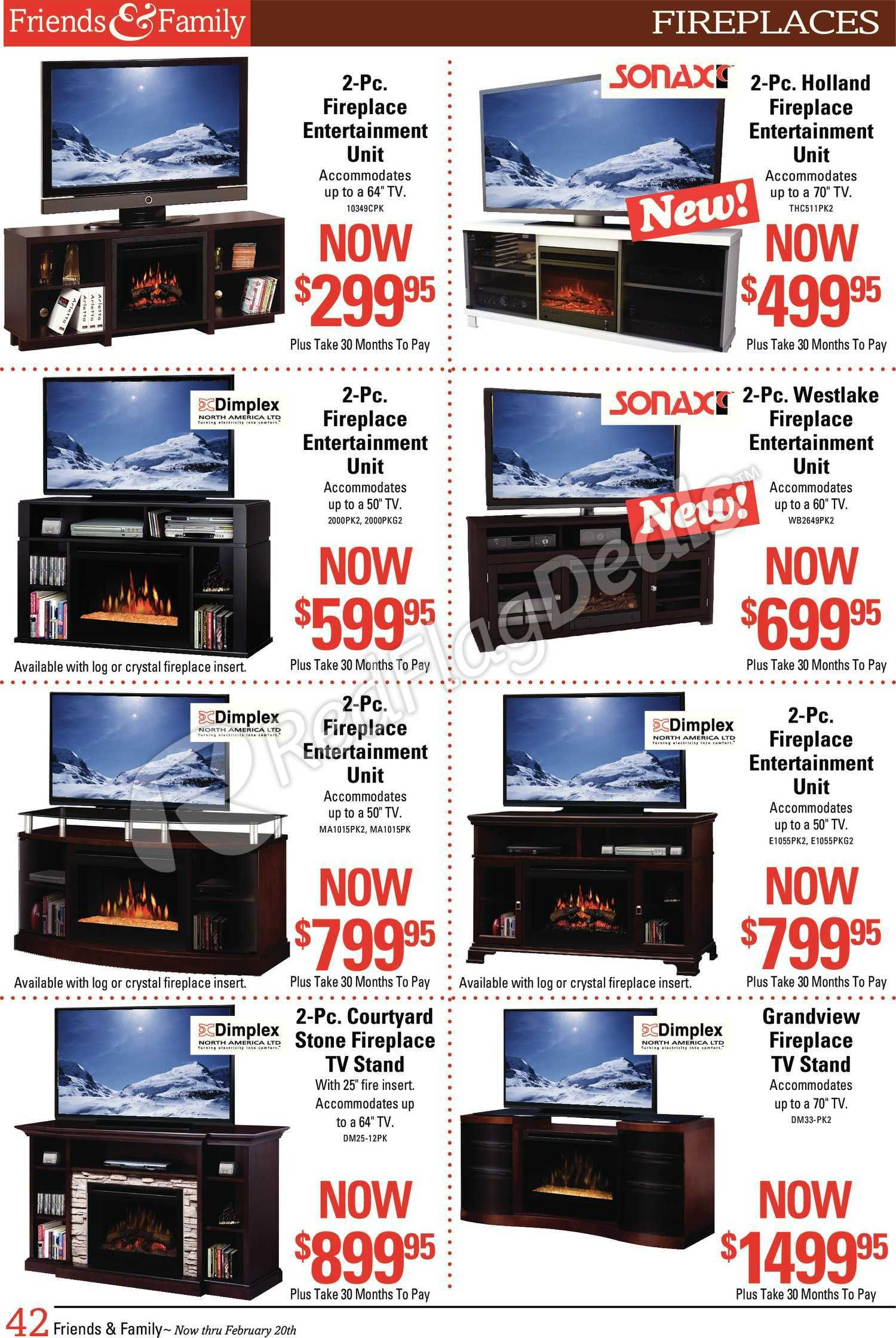The Brick Weekly Flyer – Friends & Family Savings Book! – Feb 5 – 20 Regarding Casey Umber 54 Inch Tv Stands (View 2 of 26)
