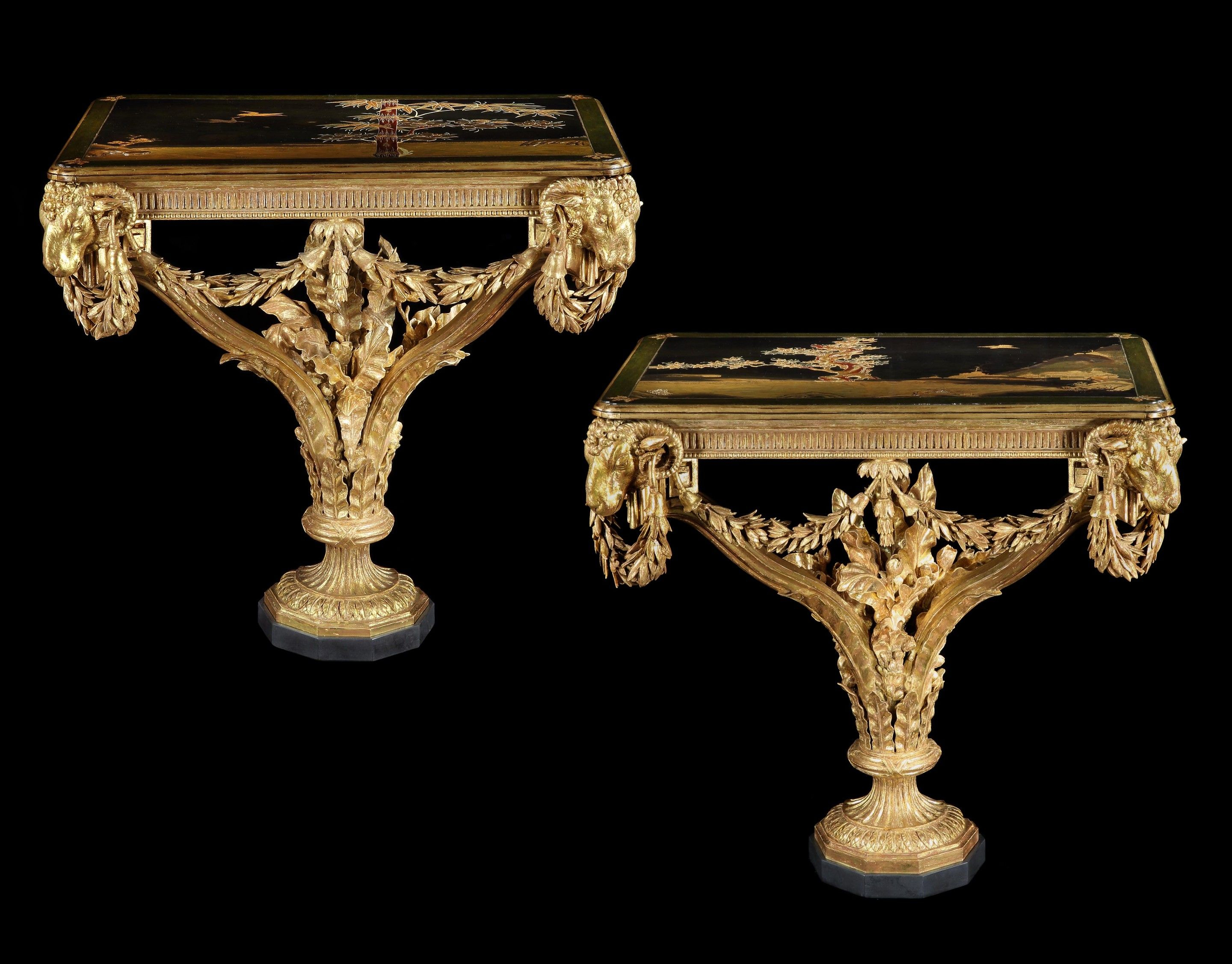 The Brynkinalt Hall Tables (C. 1770 England) From Ronald Phillips pertaining to Phillip Brass Console Tables (Image 30 of 30)