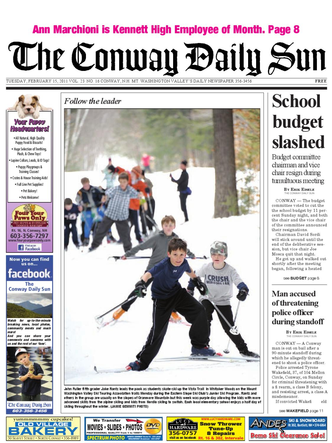 The Conway Daily Sun, Tuesday, February 15, 2011daily Sun – Issuu Intended For Wakefield 67 Inch Tv Stands (View 14 of 30)