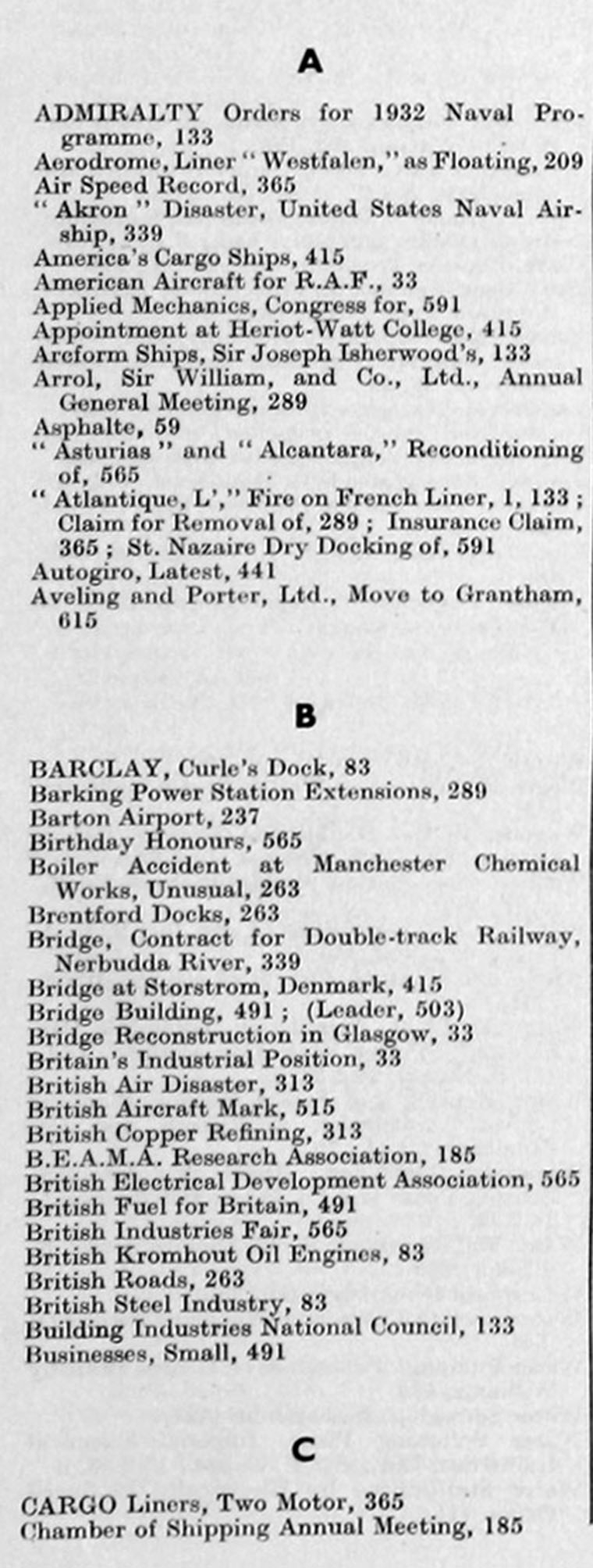 The Engineer 1933 Jan Jun: Index Throughout Dixon White 84 Inch Tv Stands (View 23 of 30)