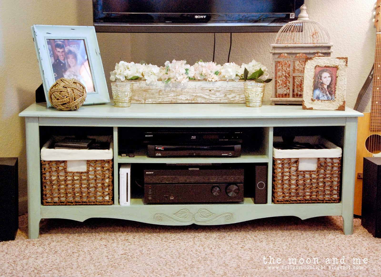 The Moon And Me: Entertainment Center To Tv Console Makeover With Walters Media Console Tables (View 21 of 30)