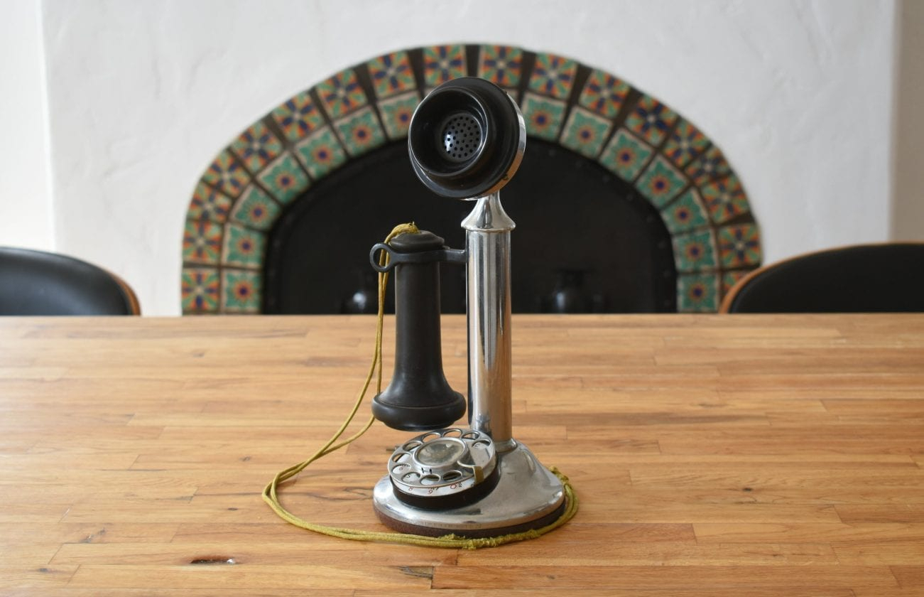 These Antique Phones Are Precious, Private Alexa Vessels | Utter Buzz! with Mayfield Plasma Console Tables (Image 30 of 30)
