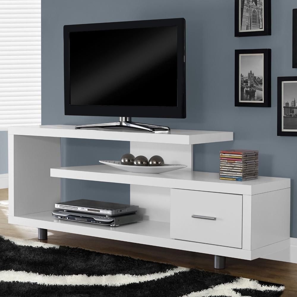 This Functional And Beautiful Tv Stand Gives Your Home A Modern Look Inside Dixon White 58 Inch Tv Stands (View 2 of 30)