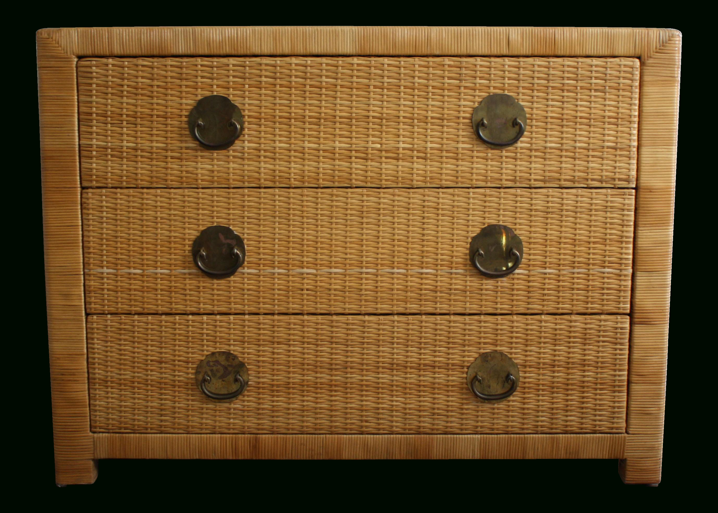This Vintage Natural Wicker And Rattan Chest Of Drawers Comes With 3 inside Natural Cane Media Console Tables (Image 28 of 30)