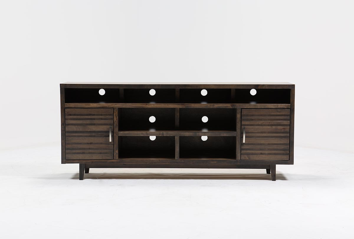 Thorndale 84 Inch Tv Stand Living Spaces Black Lacquer Console Table For Silviano 84 Inch Console Tables (View 6 of 30)