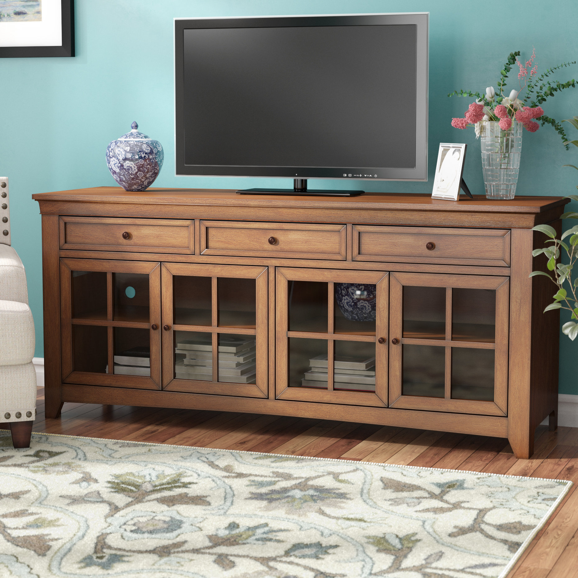 """Three Posts Betts Tv Stand For Tvs Up To 75"""" & Reviews 