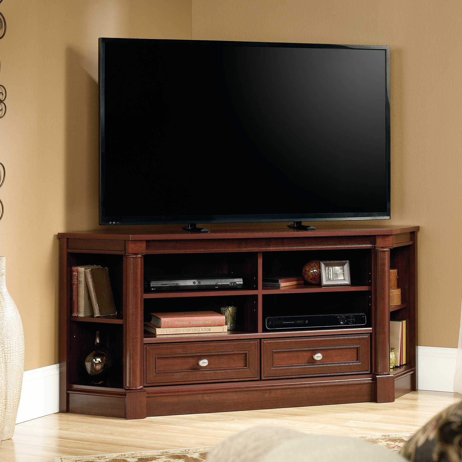 "Three Posts Orviston Corner Tv Stand For Tvs Up To 60"" & Reviews With Regard To Maddy 60 Inch Tv Stands (View 2 of 30)"