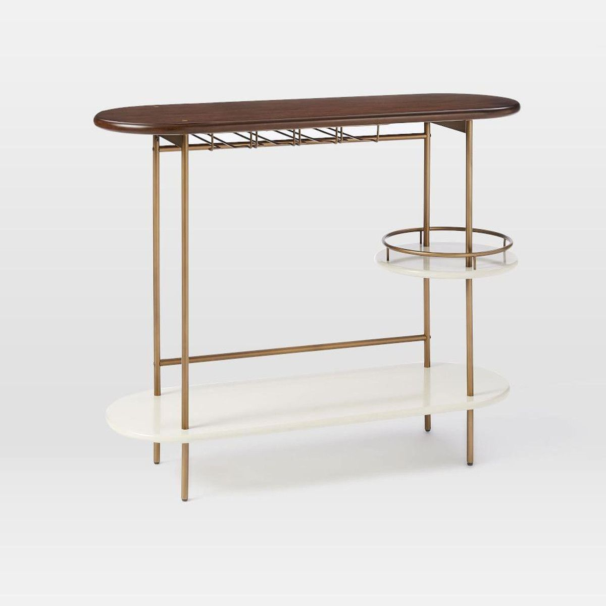 Tiered Bar Console | Bar Carts | Pinterest | Consoles, Bar And Bar Carts For Elke Glass Console Tables With Brass Base (View 7 of 30)