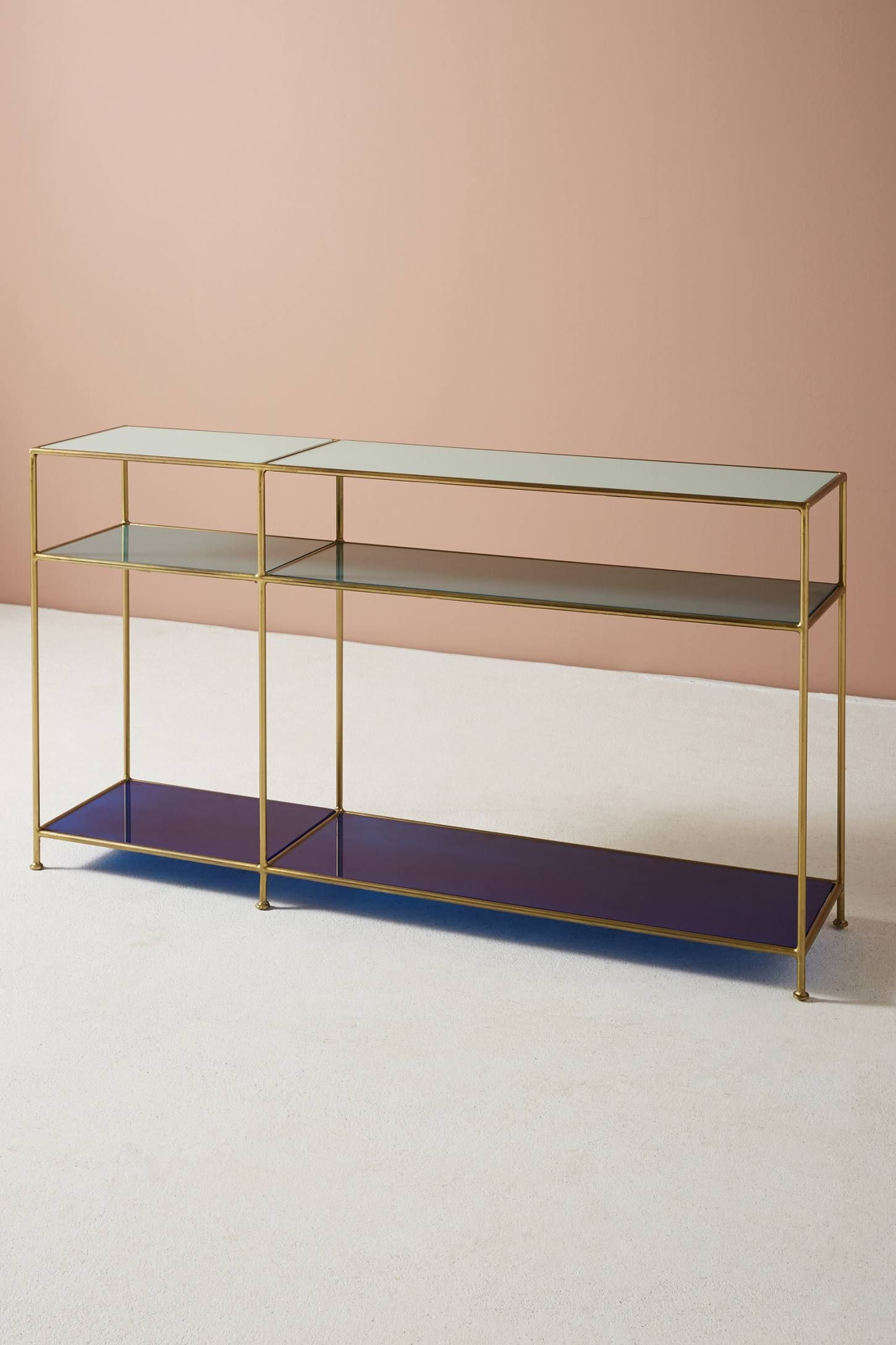 Tinted Glass Console Table | My Blue Heaven | Pinterest | Console Intended For Elke Glass Console Tables With Brass Base (View 18 of 30)