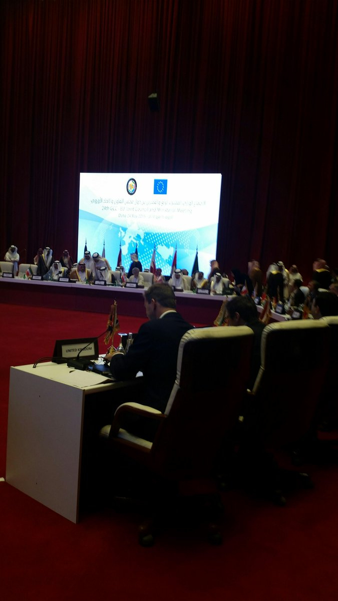 """Tobias Ellwood On Twitter: """"delighted To Be In #doha For #eu Gcc Inside Tobias Media Console Tables (View 23 of 30)"""