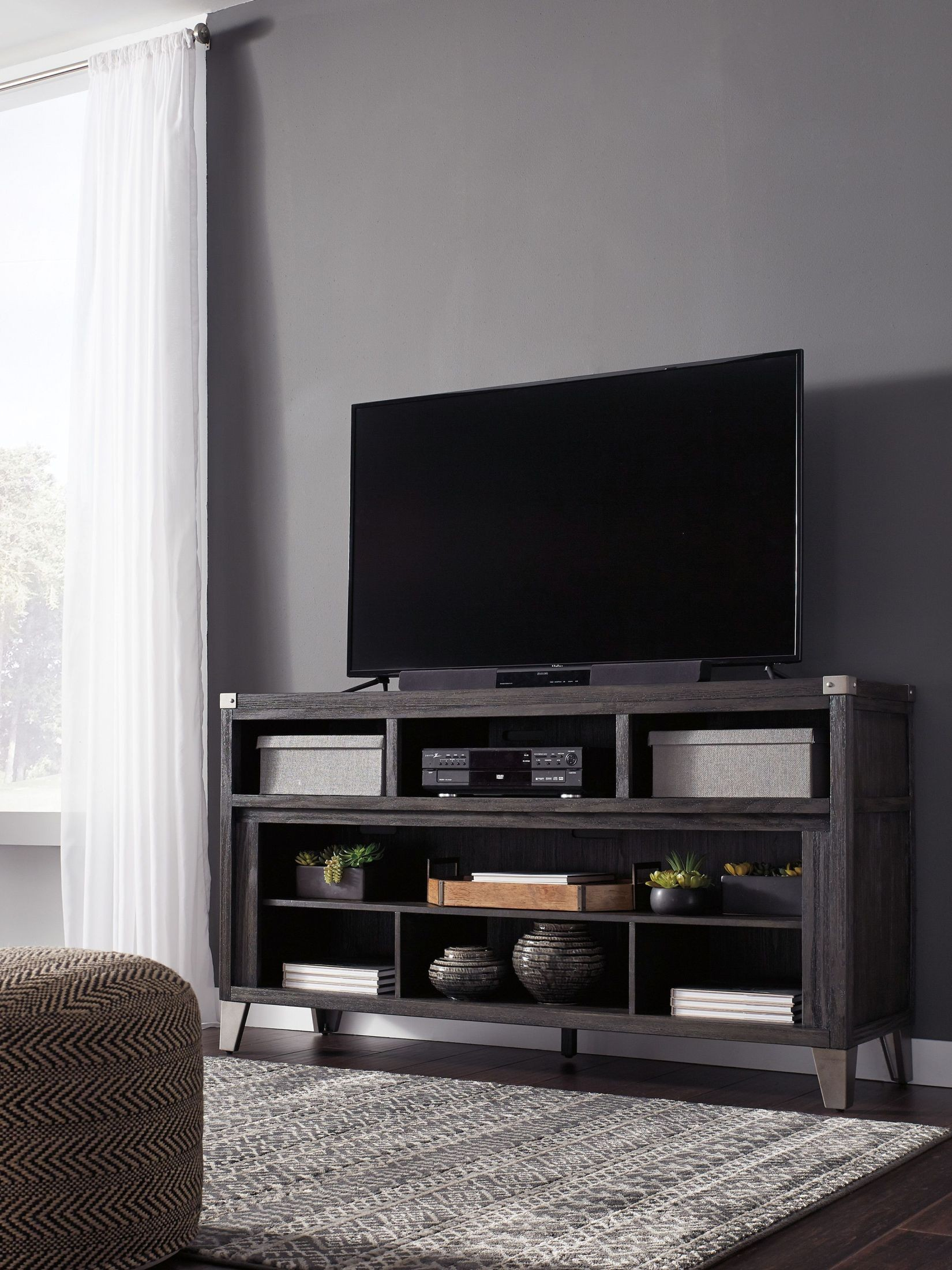 Todoe Gray Lg Tv Stand From Ashley | Coleman Furniture Throughout Vista 68 Inch Tv Stands (View 19 of 30)