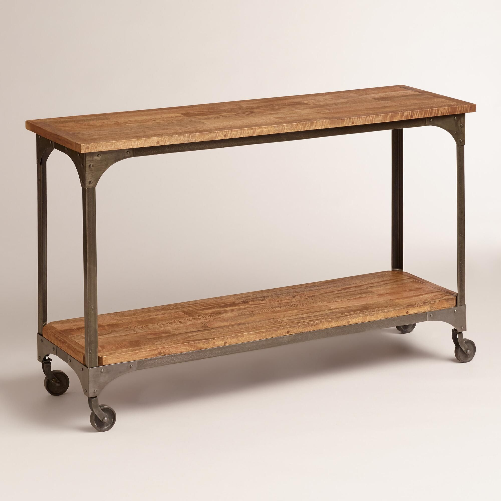 Topped With Plants, Books Or Picture Frames, Our Console Table Gives throughout Mix Patina Metal Frame Console Tables (Image 28 of 30)