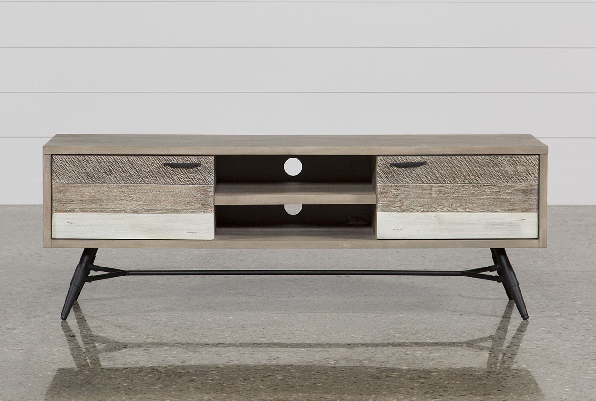 Trendy Canyon 74 Inch Tv Stand Living Spaces Tv Stand in Jacen 78 Inch Tv Stands (Image 29 of 30)