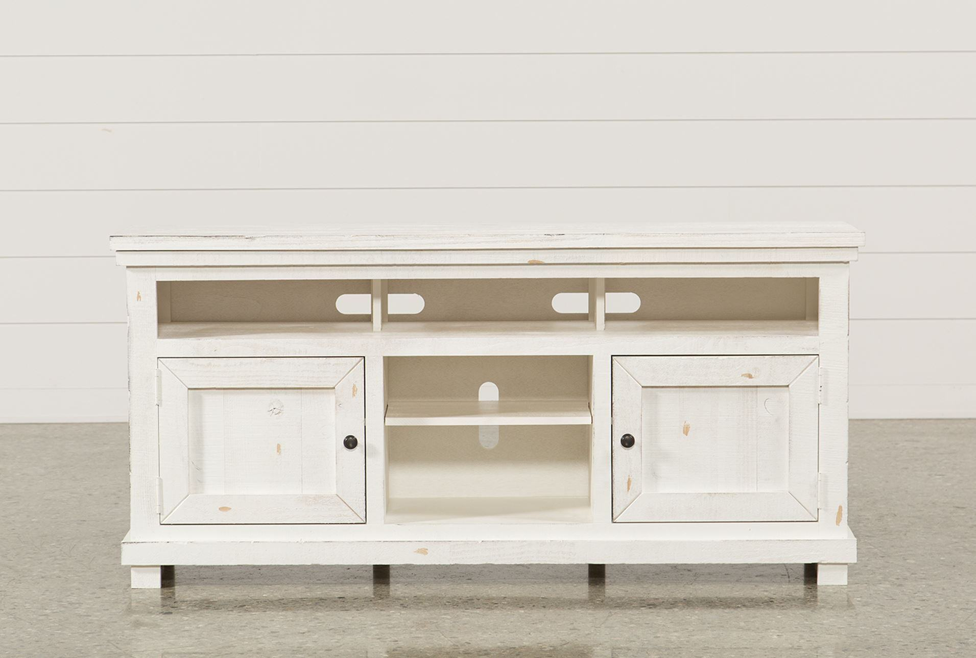 Trendy Canyon 74 Inch Tv Stand Living Spaces Tv Stand Pertaining To Sinclair Blue 64 Inch Tv Stands (View 21 of 30)