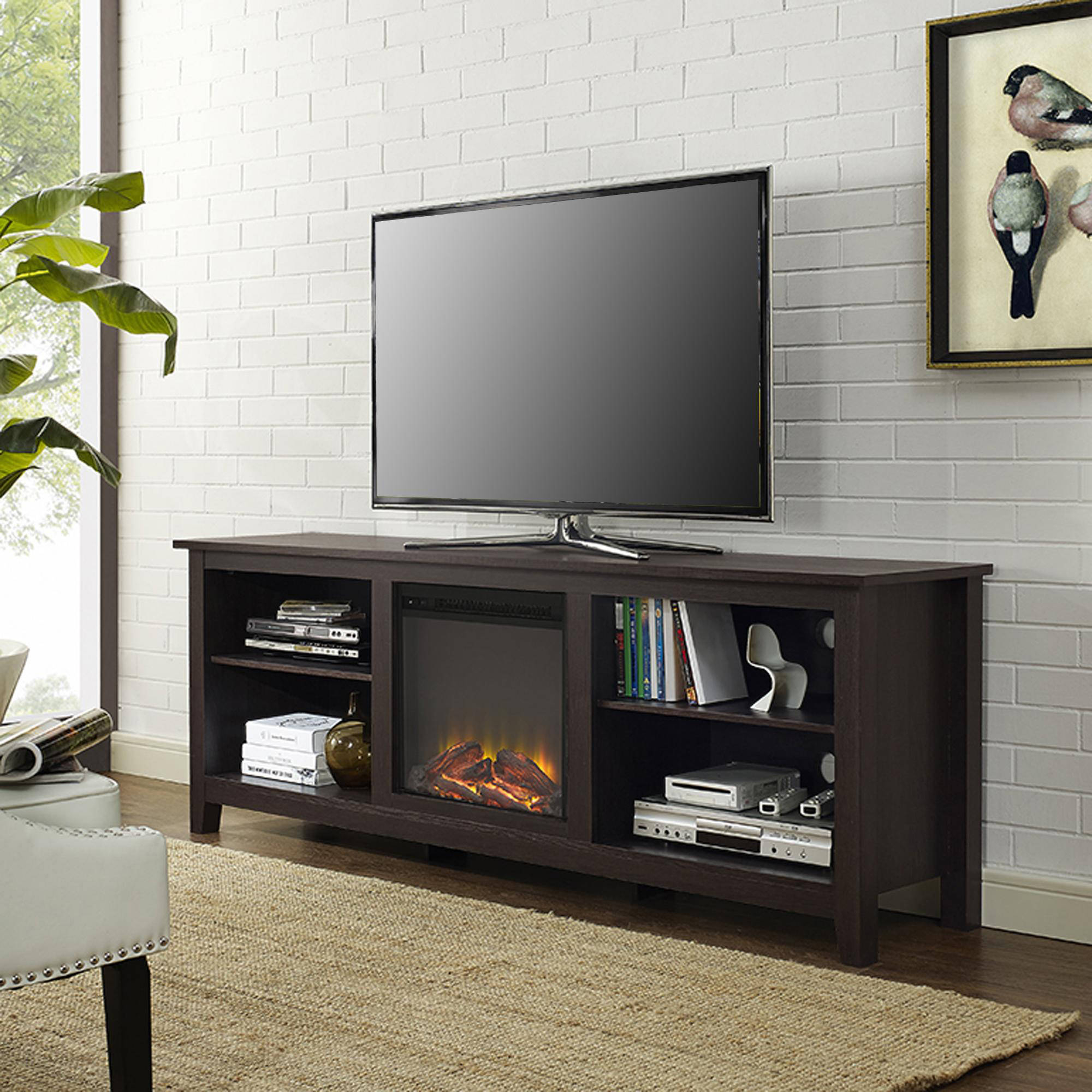 Tv Stands & Entertainment Centers - Walmart pertaining to Century White 60 Inch Tv Stands (Image 24 of 30)