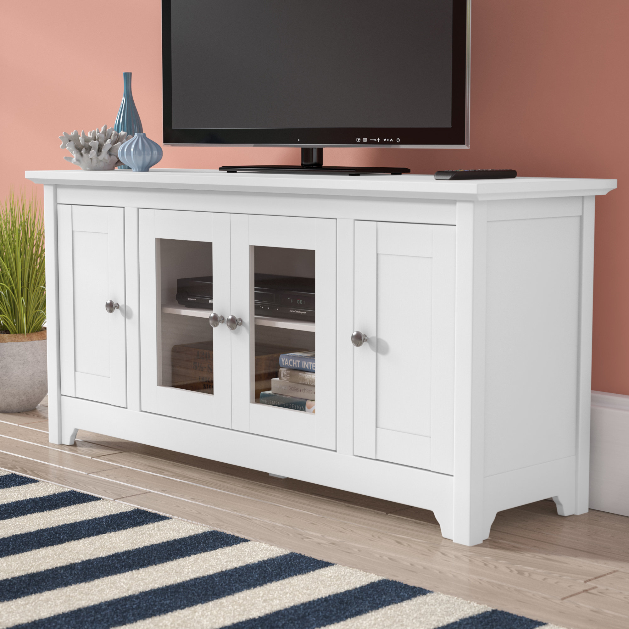 Tv Stands & Entertainment Centers You'll Love | Wayfair Inside Kenzie 72 Inch Open Display Tv Stands (View 13 of 30)
