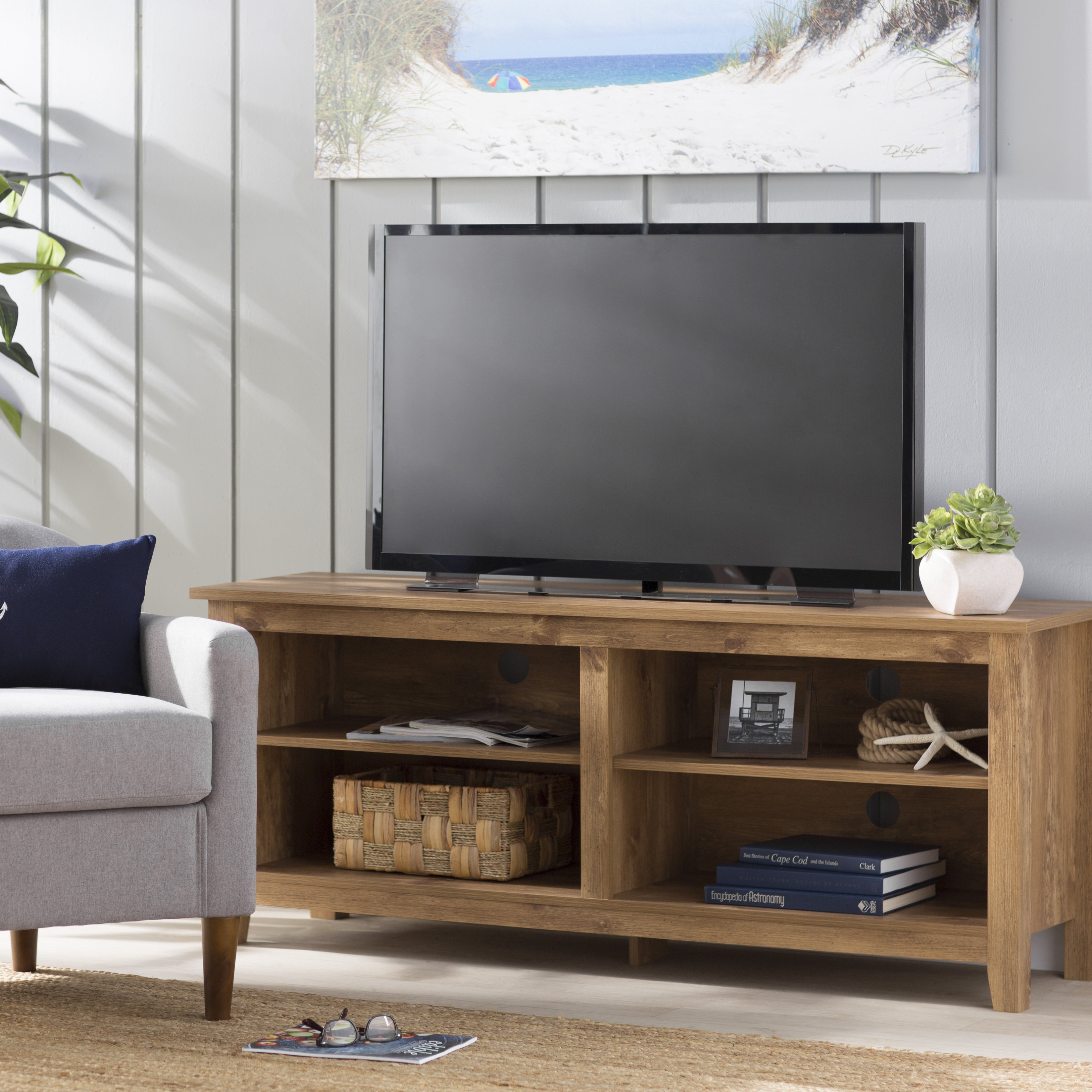 Tv Stands & Entertainment Centers You'll Love | Wayfair With Regard To Kenzie 72 Inch Open Display Tv Stands (View 8 of 30)