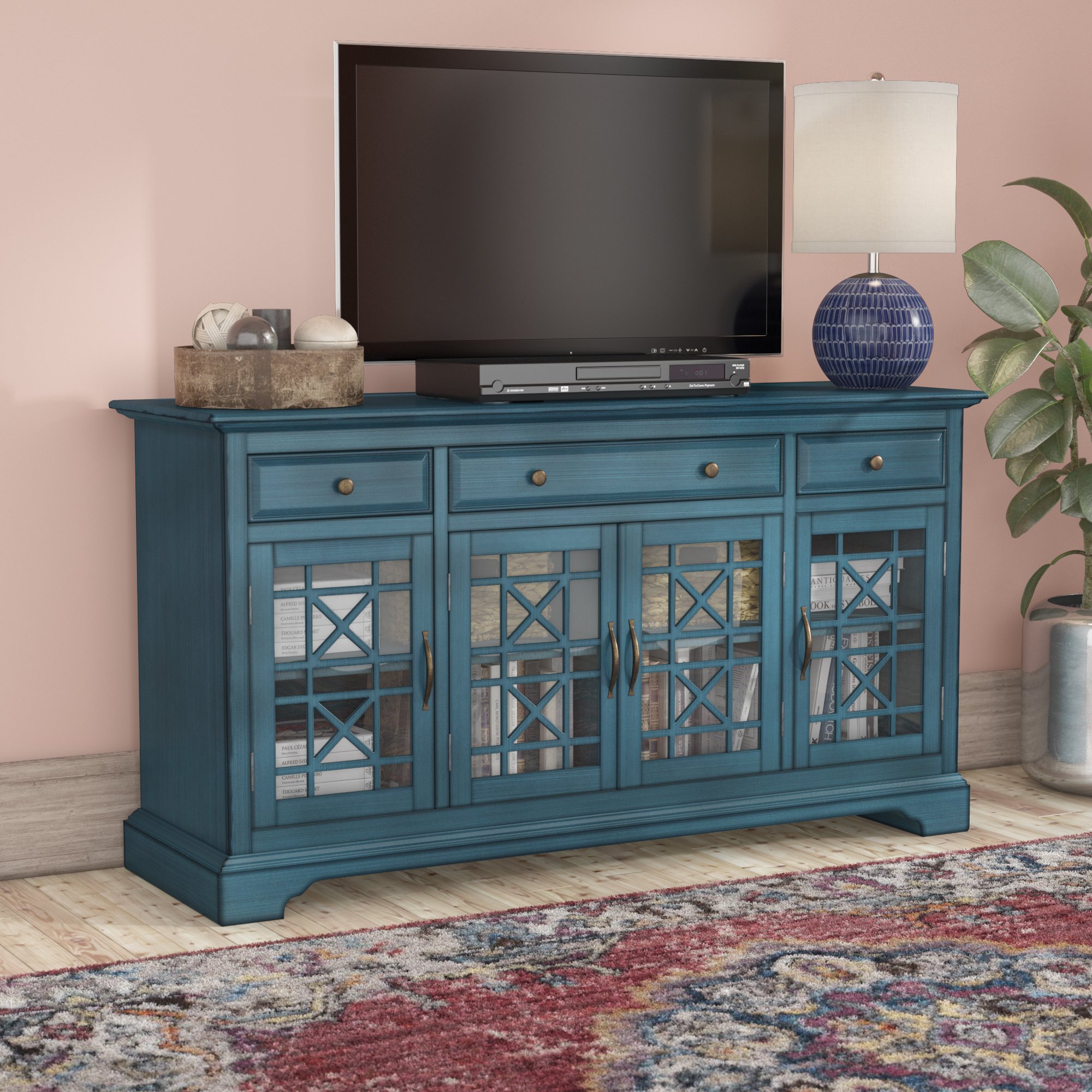 Tv Stands | Joss & Main with Annabelle Blue 70 Inch Tv Stands (Image 24 of 30)