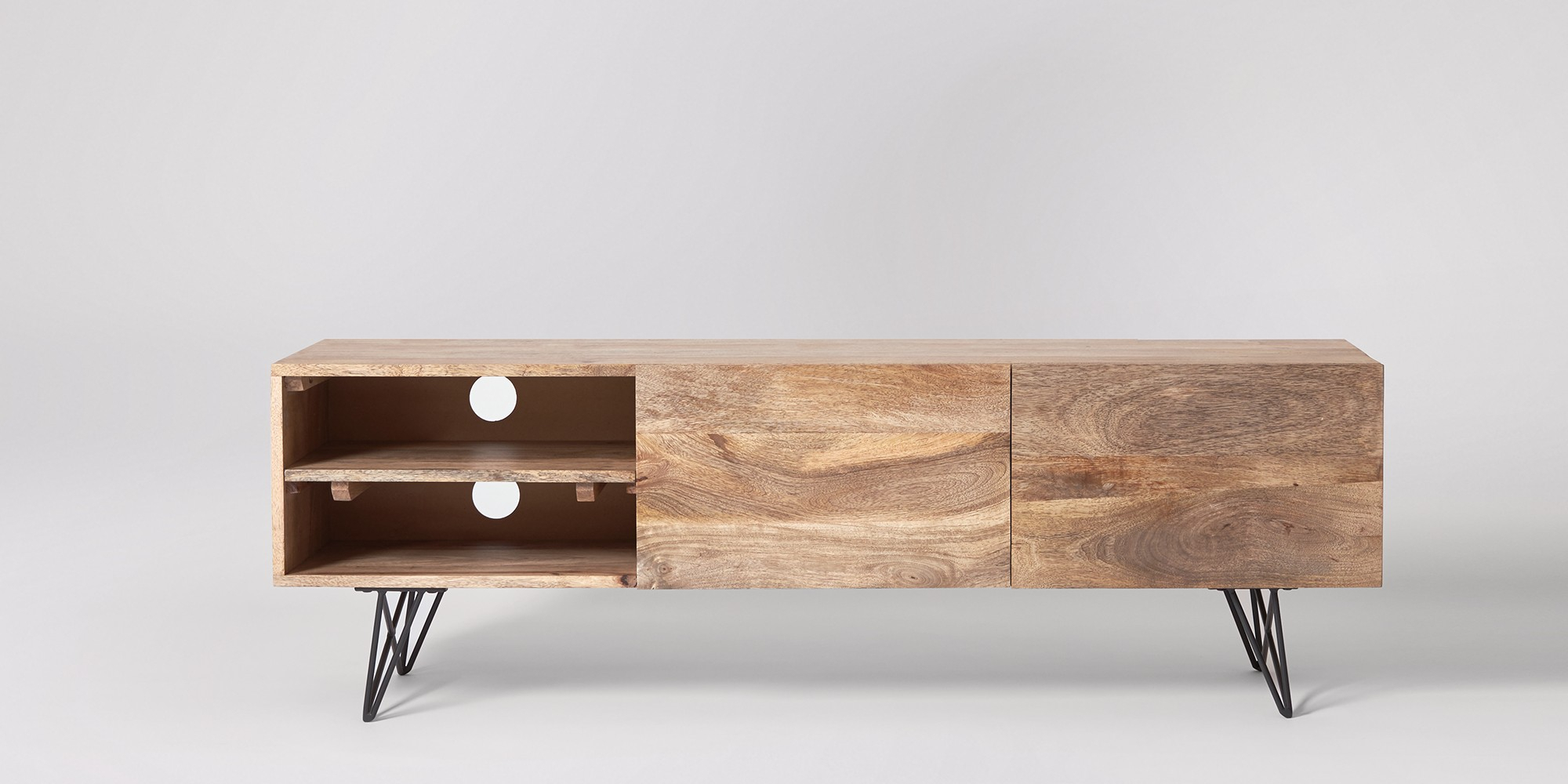 Tv Stands | Media Units & Stands | Swoon | Swoon in Natural Cane Media Console Tables (Image 30 of 30)