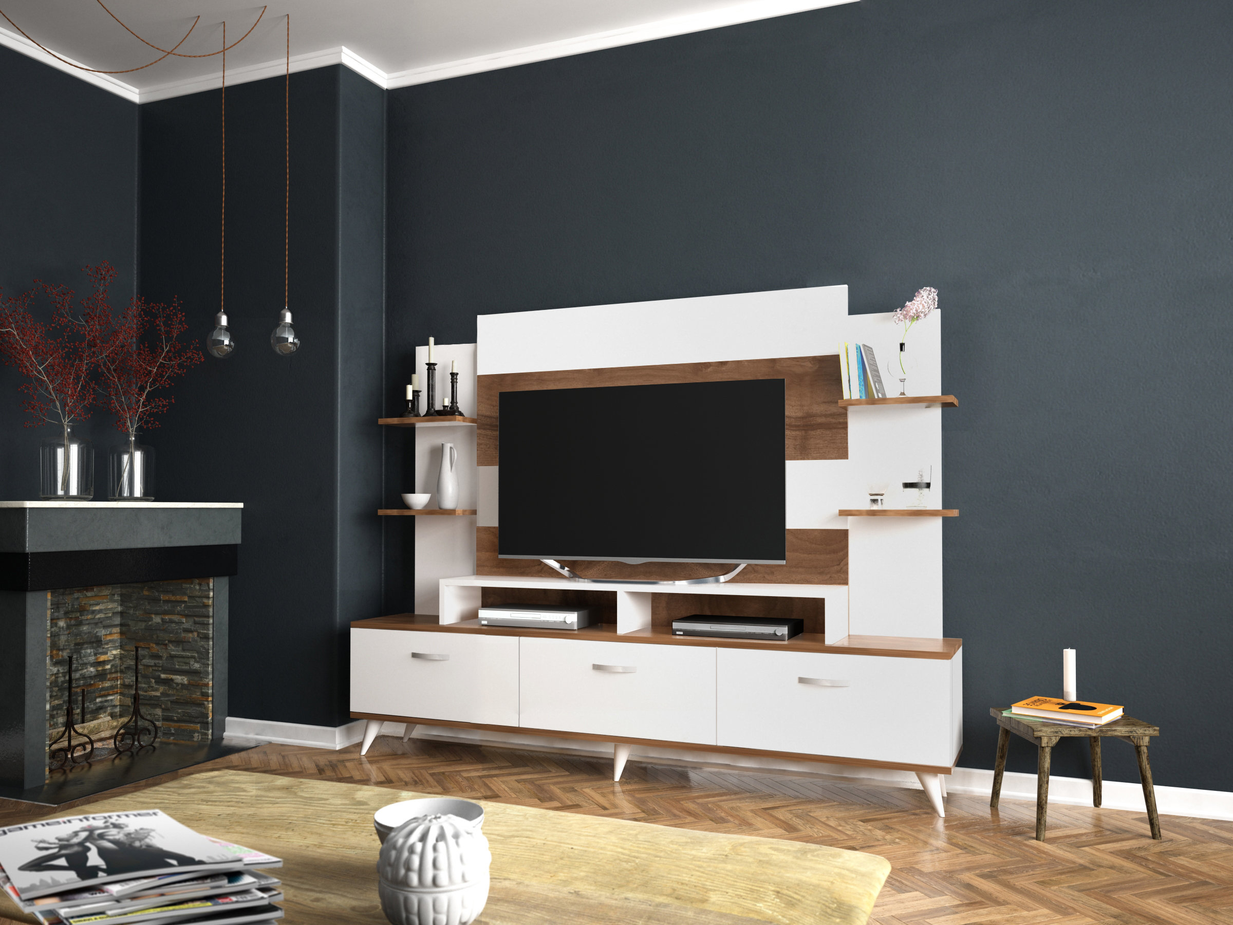 Tv Stands With Hutch You'll Love | Wayfair Throughout Kilian Grey 74 Inch Tv Stands (View 9 of 30)