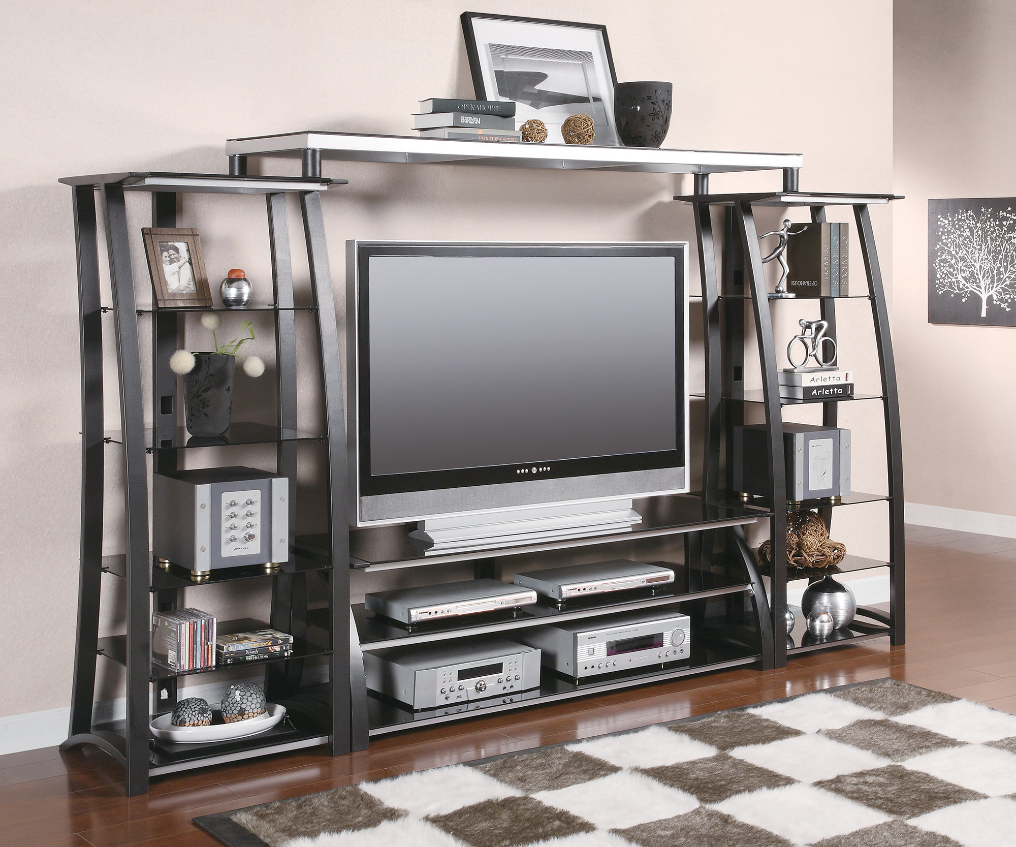 Tv Stands With Hutch You'll Love | Wayfair With Kilian Grey 74 Inch Tv Stands (View 6 of 30)