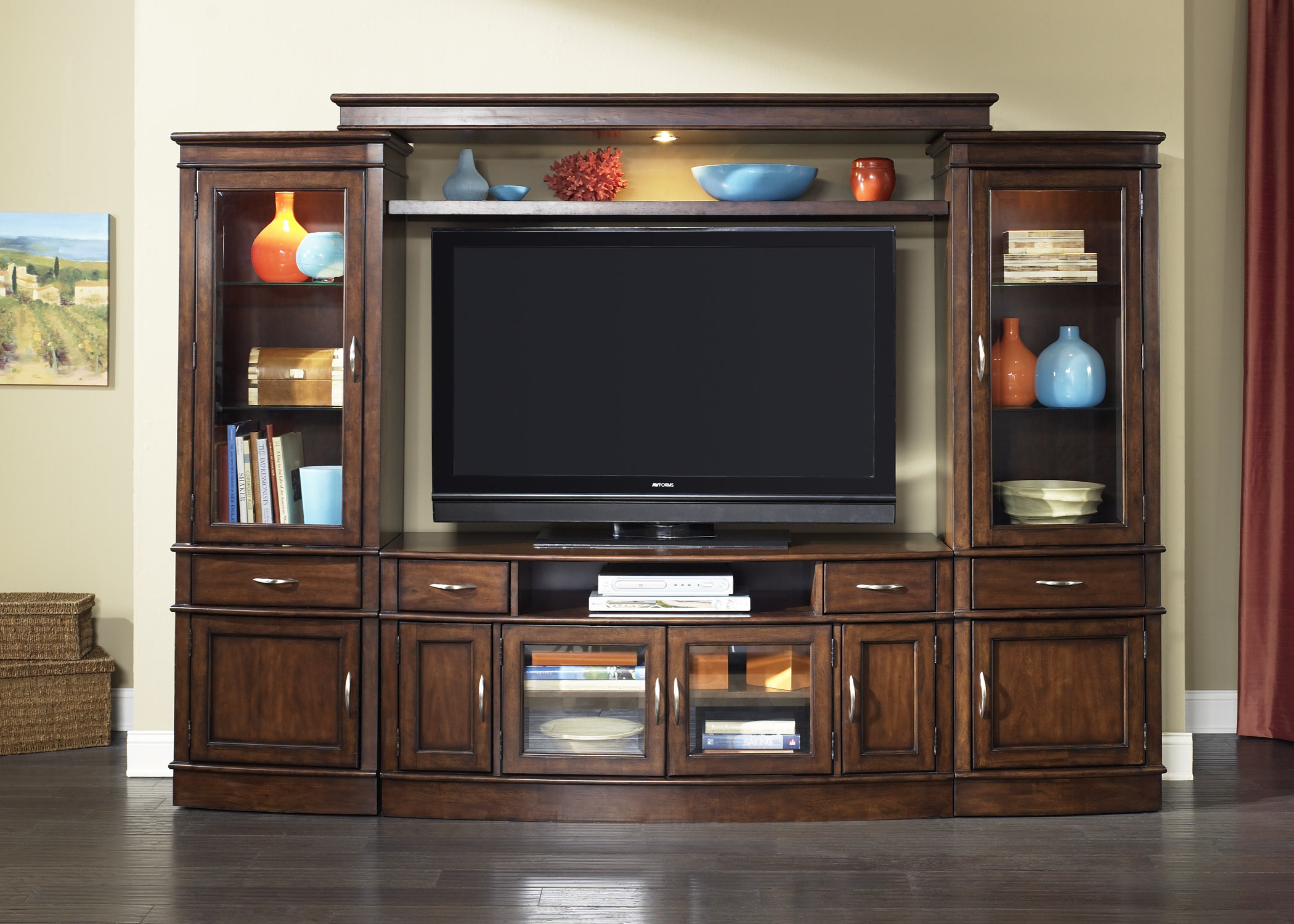 Tv Stands With Hutch You'll Love | Wayfair With Regard To Kilian Grey 74 Inch Tv Stands (View 7 of 30)