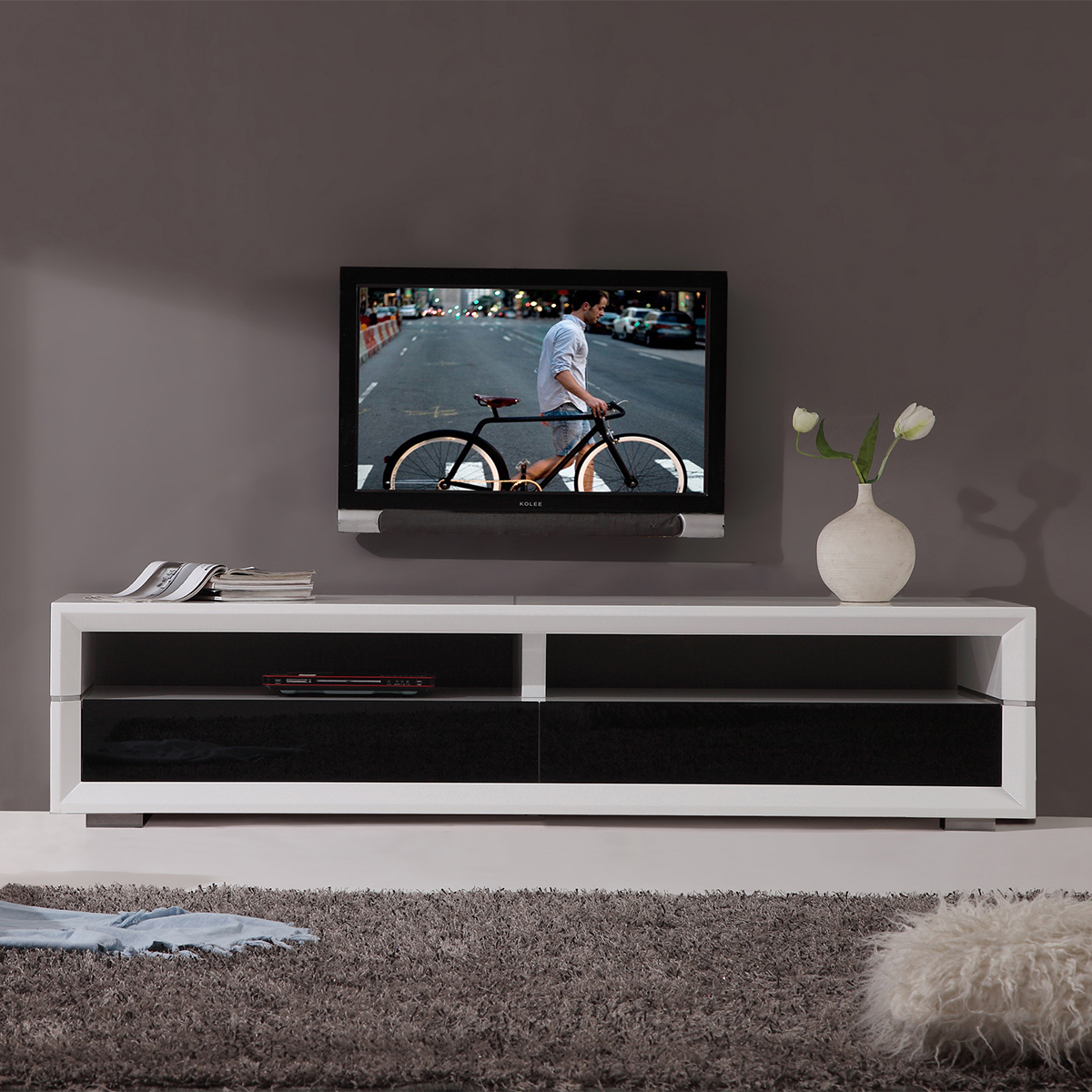 Tv Television Stands 71 & Wider In Noah 75 Inch Tv Stands (View 4 of 30)
