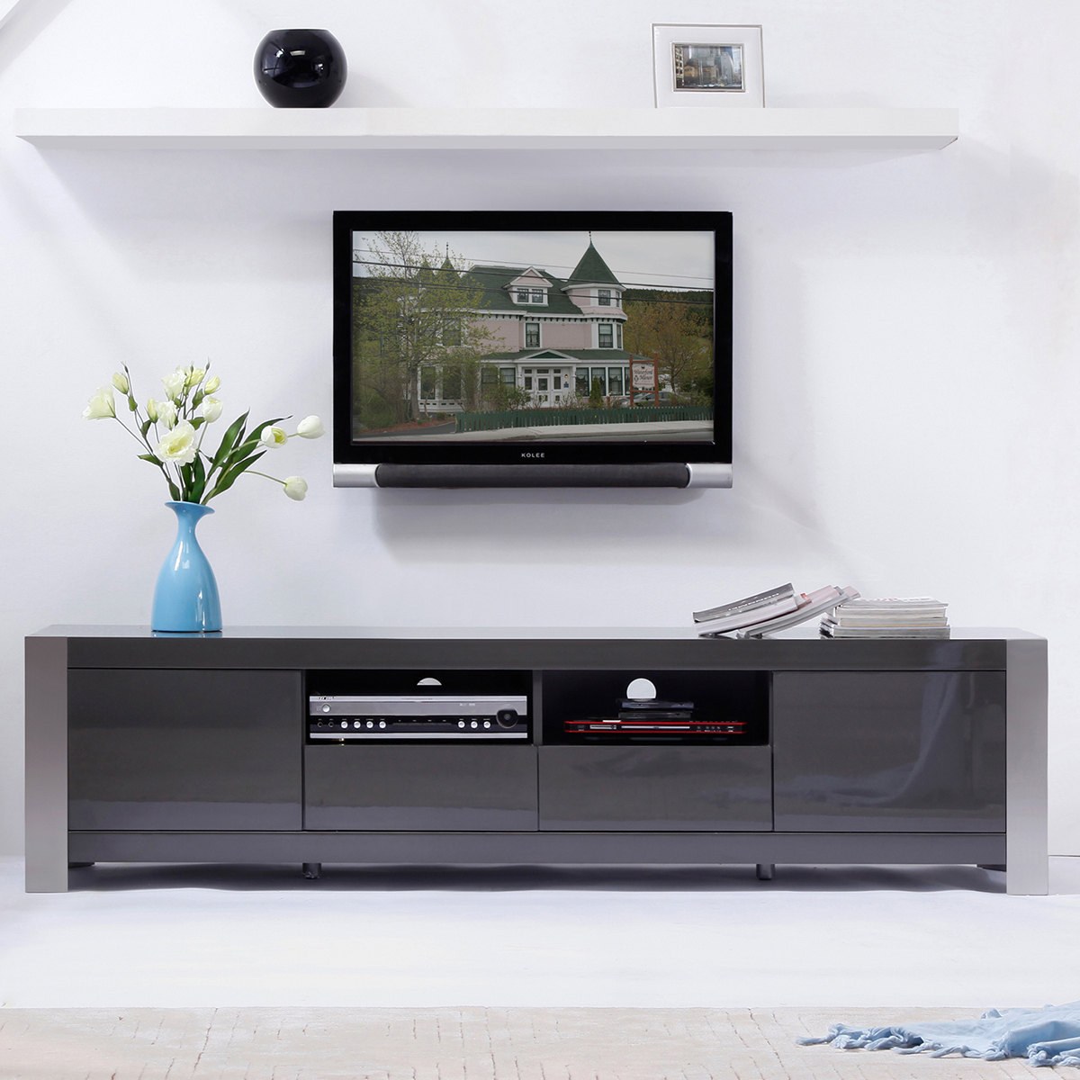 Tv Television Stands 71 & Wider regarding Valencia 70 Inch Tv Stands (Image 20 of 30)