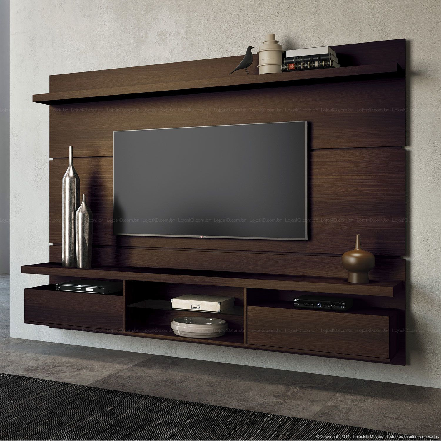 Tv Wall Mount Style Ideas To Combine With Your Attractive And Pertaining To Kilian Black 60 Inch Tv Stands (View 3 of 30)