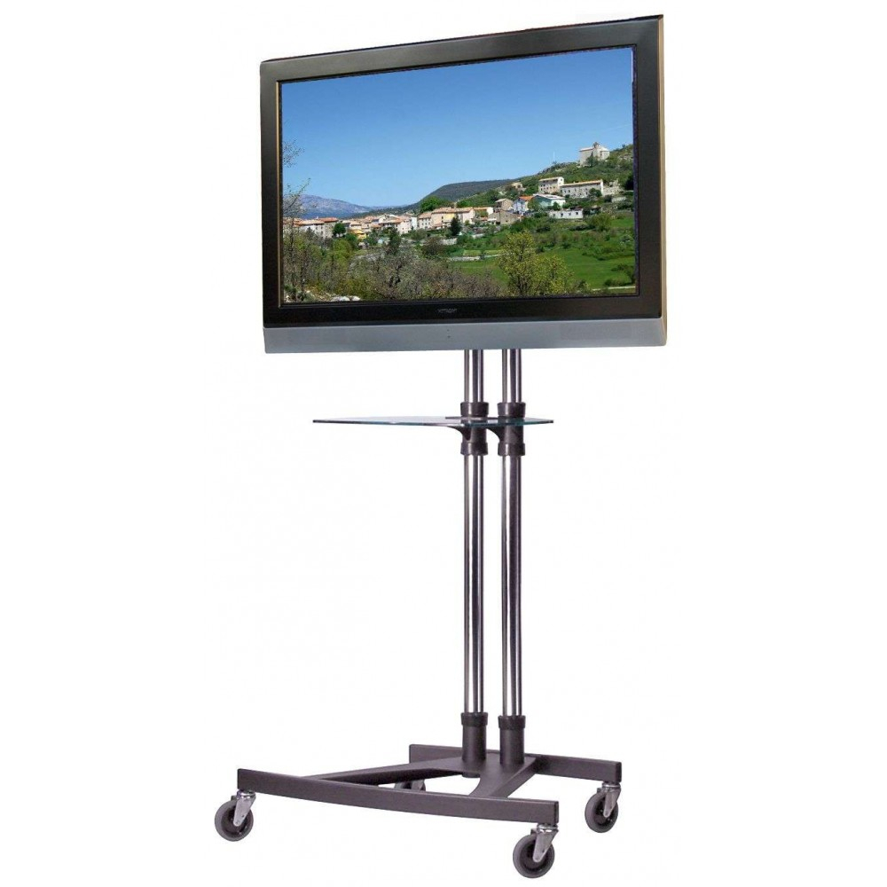 Unicol Vs1000 Modern Business Trolley With Dvd Laptop Shelf Best Uk pertaining to Oxford 70 Inch Tv Stands (Image 28 of 30)