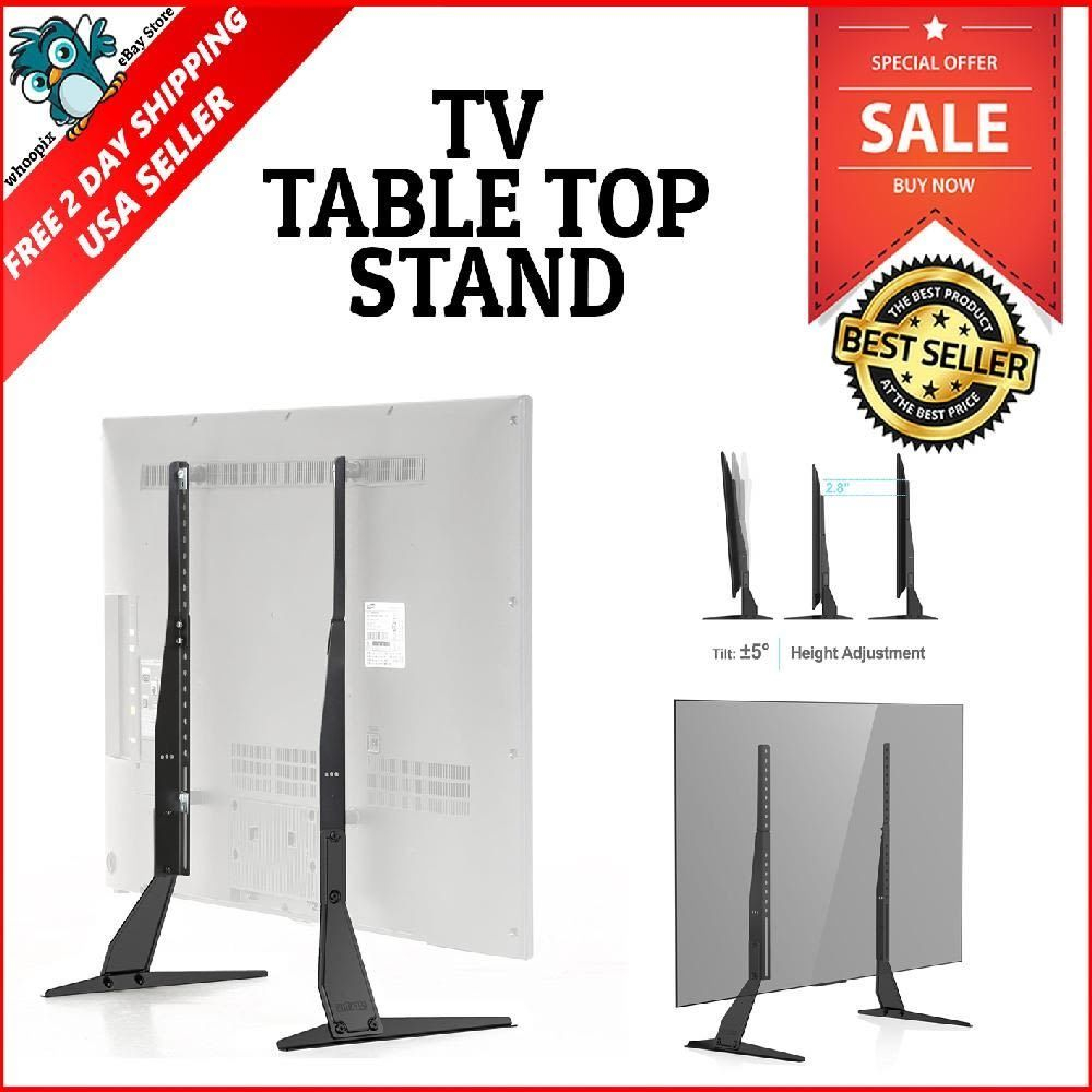 Universal Table Top Tv Stand Base Lcd Hd Led Flat Screens Holder Fit Throughout Forma 65 Inch Tv Stands (View 16 of 30)