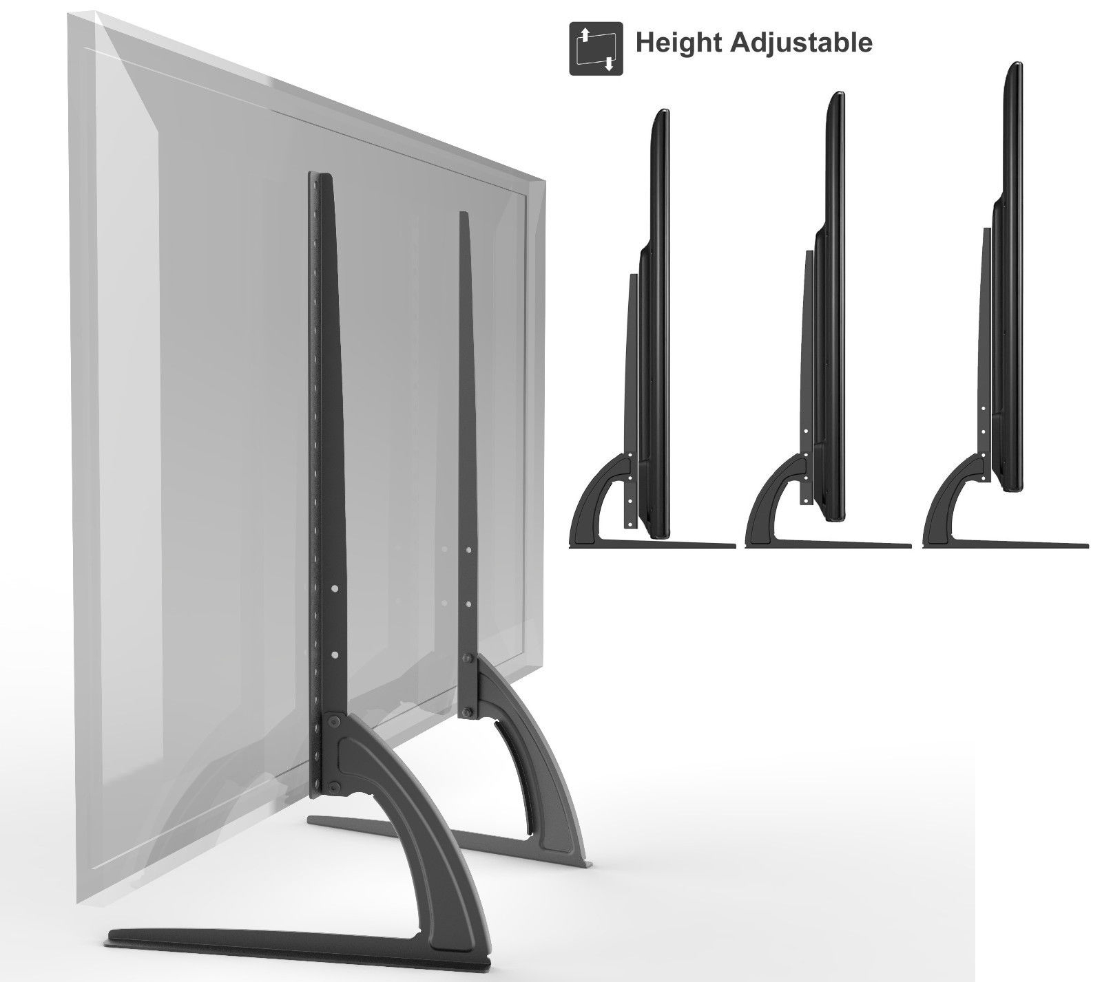 Universal Table Top Tv Stand Legs For Lg 49lf6300 Height Adjustable With Regard To Forma 65 Inch Tv Stands (View 5 of 30)