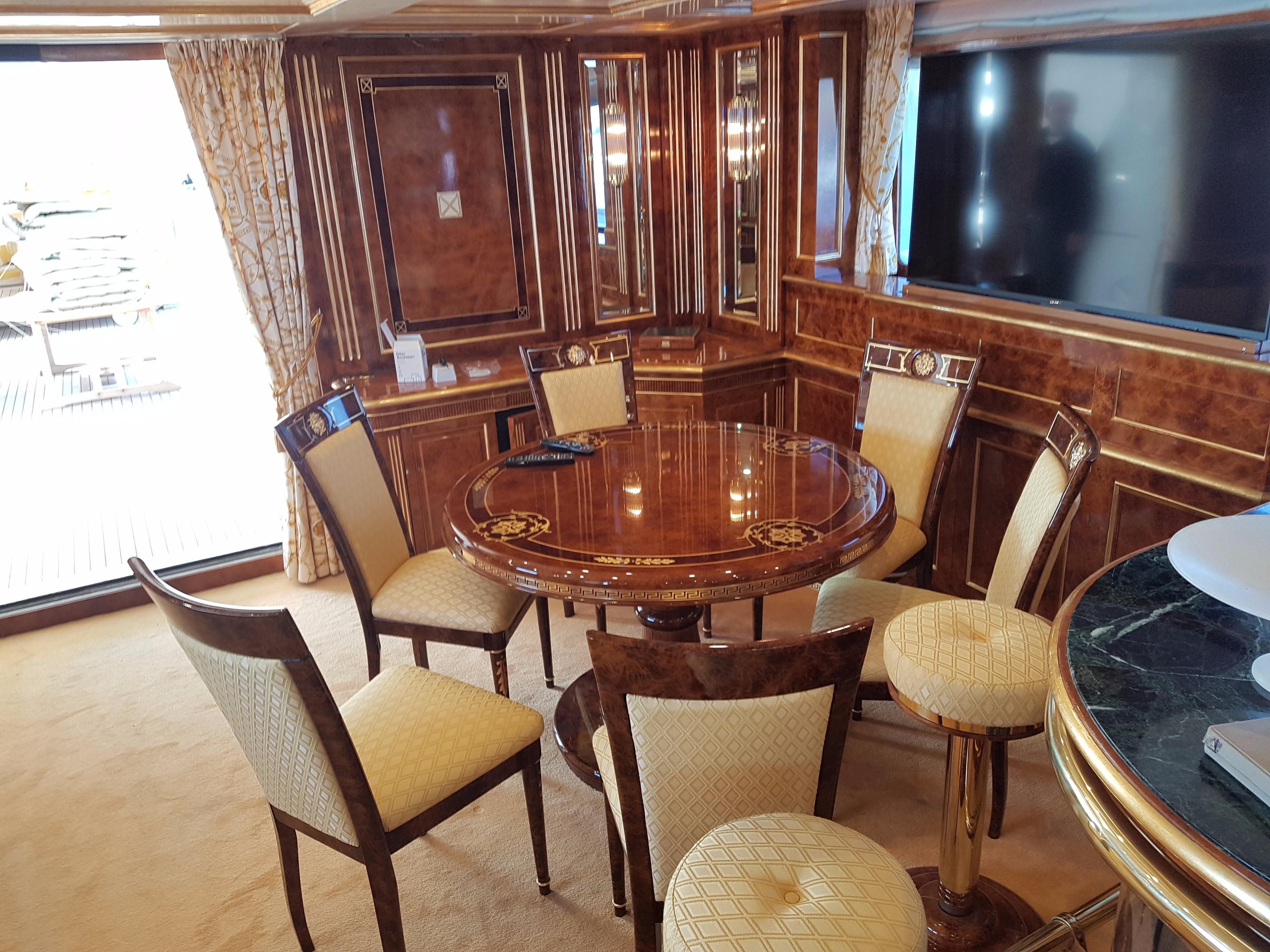 Used Benetti 148 Yachts For Sale In Italy- Denison Yachting with Mikelson Media Console Tables (Image 28 of 30)