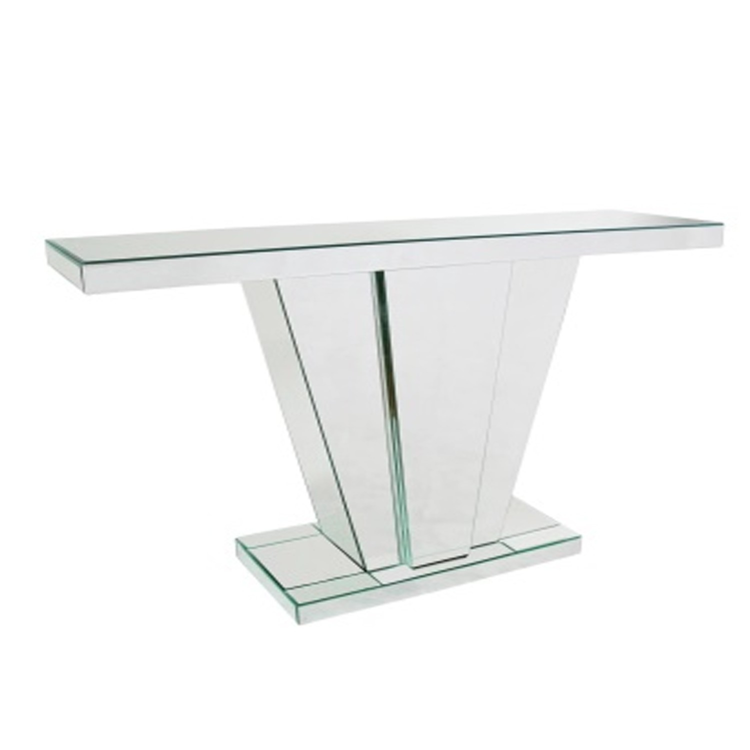 V Frame Mirrored Console Table Abreo Home Furniture Within Frame Console Tables (View 16 of 30)